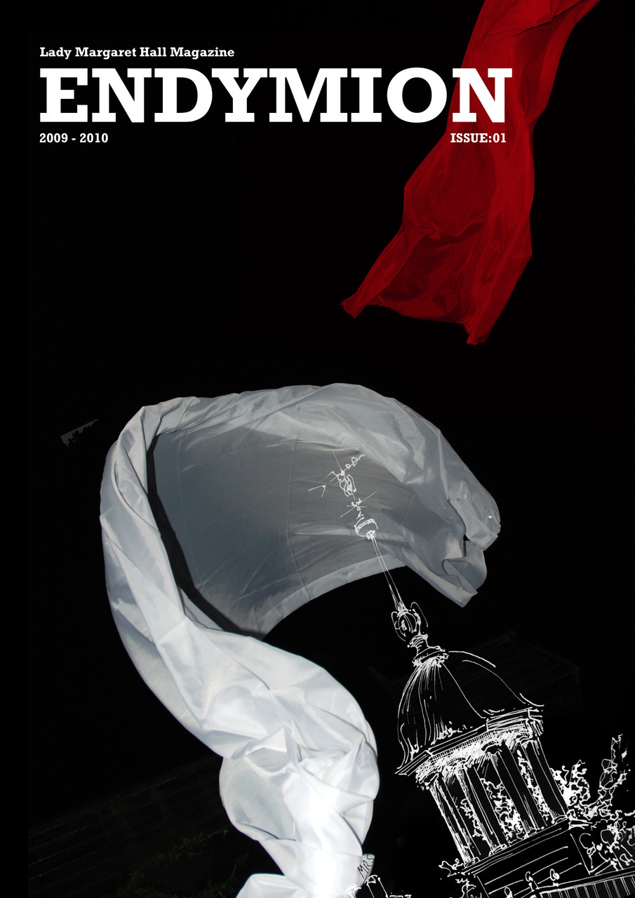 Design and artwork for Lady Margaret Hall Arts Magazine cover, 2010