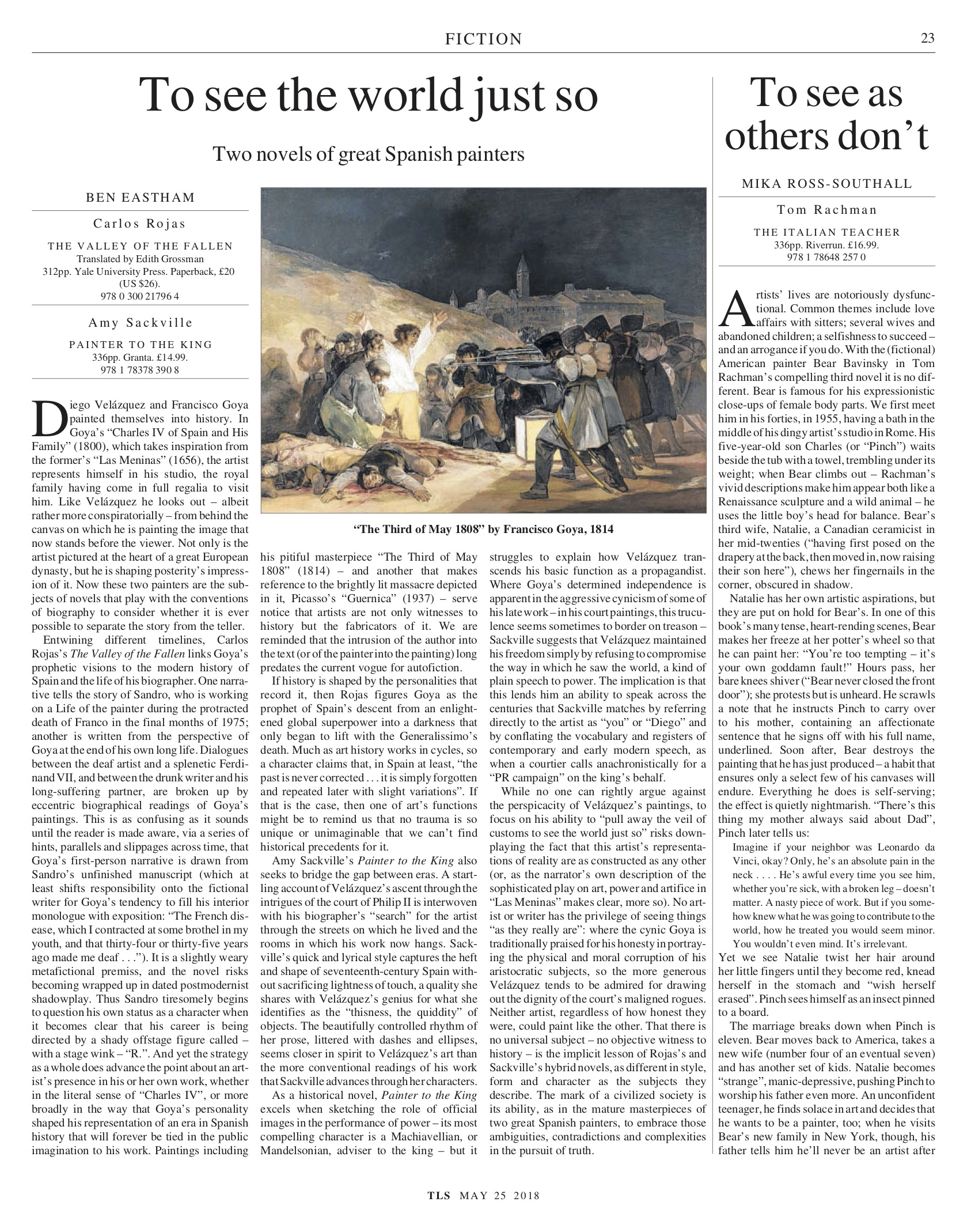 To see as others don't, Published in The Times Literary Supplement, May 25, 2018
