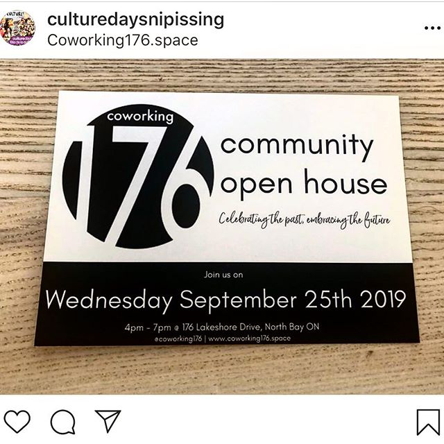 Next Wednesday, September 25th from 4-7PM we welcome you to come see the transformation of @coworking176 during our community open house 🙌🏼 #Nipissing #northbay #ontario #coworking #collaborationiskey 🇨🇦