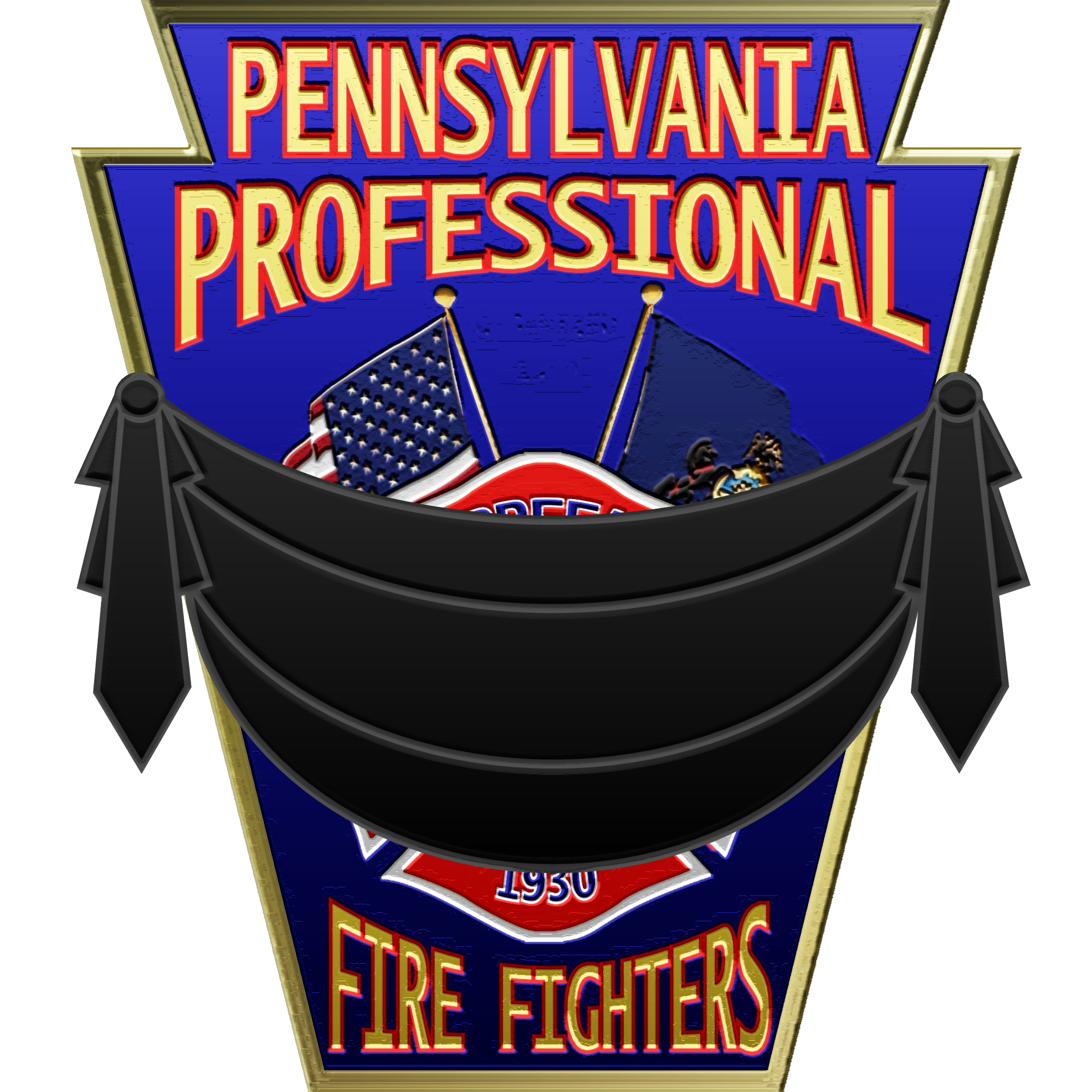PPFFA Logo w/banner  PPFFA Logo with black mourning banner