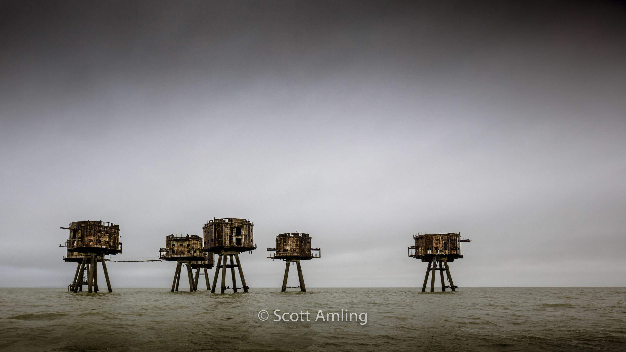 Maunsell Sea Forts, Red Sands, North Sea, England (January, 2018)