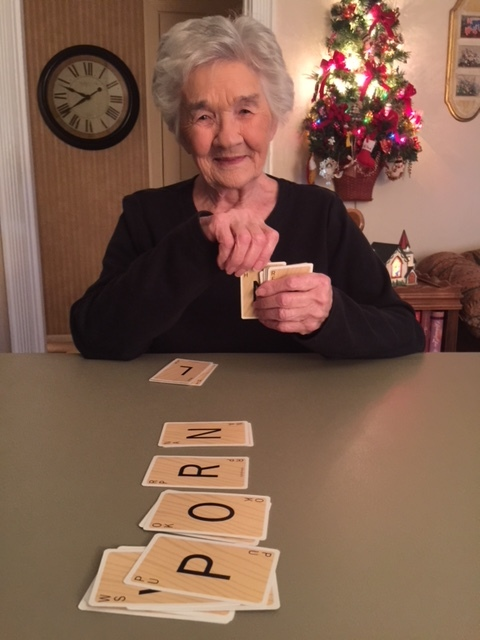 Just a friendly game of Scrabble Slam between Gran Gran and my oldest root.