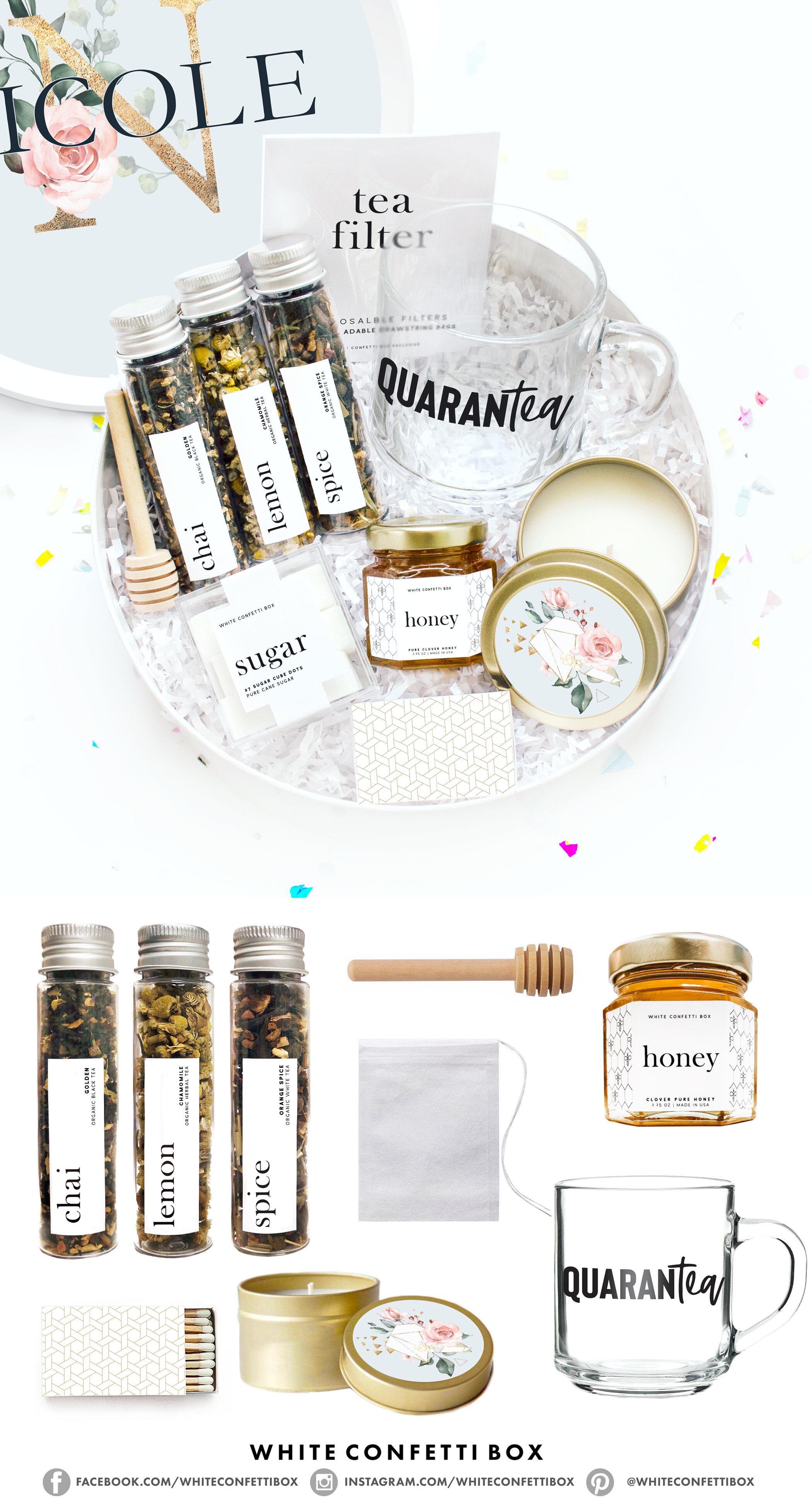 Quarantea Quarantine Gift Set White Confetti Box