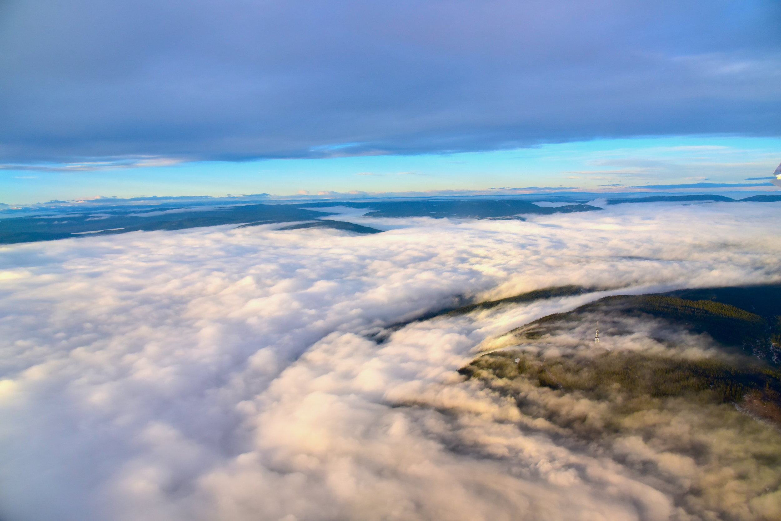 A birdview from the plane, Norway