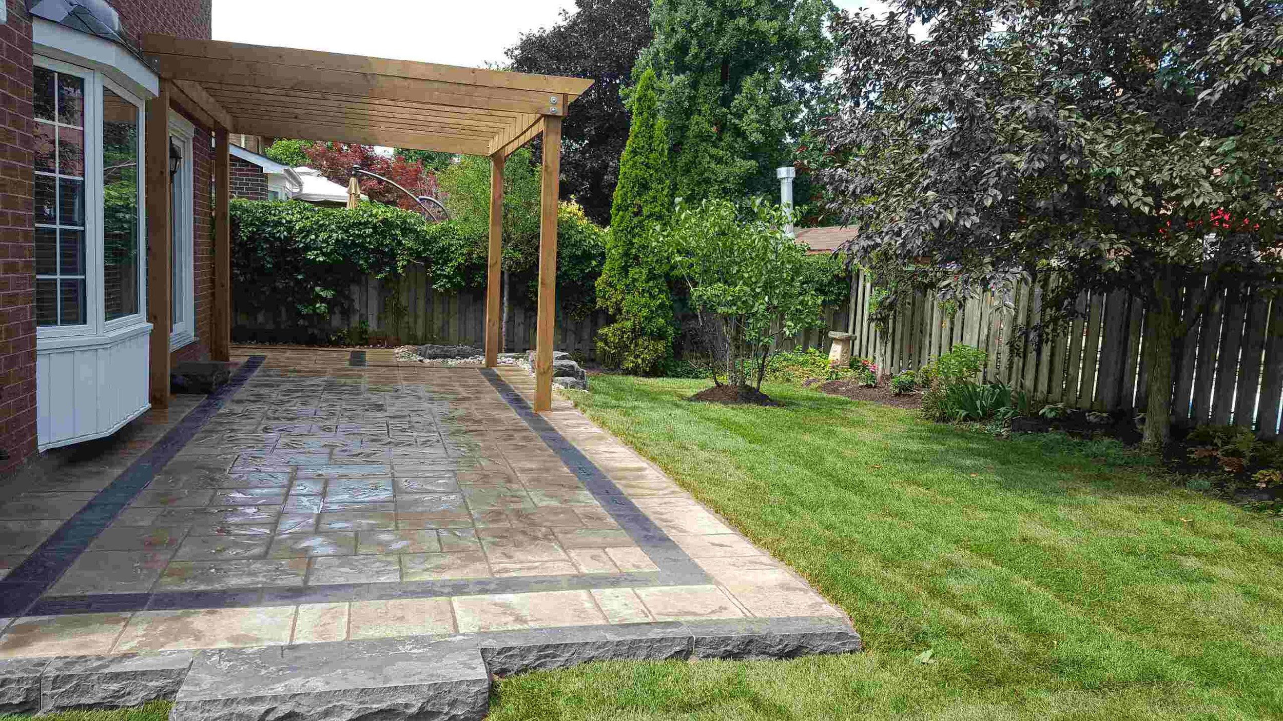Learn about our Hardscaping and Carpentry Services -