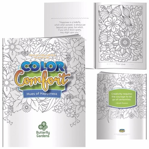 "Adult Colouring Books - Meditations (Birds)  Complies with Prop 65. 8"" W x 10 1/2"" H"