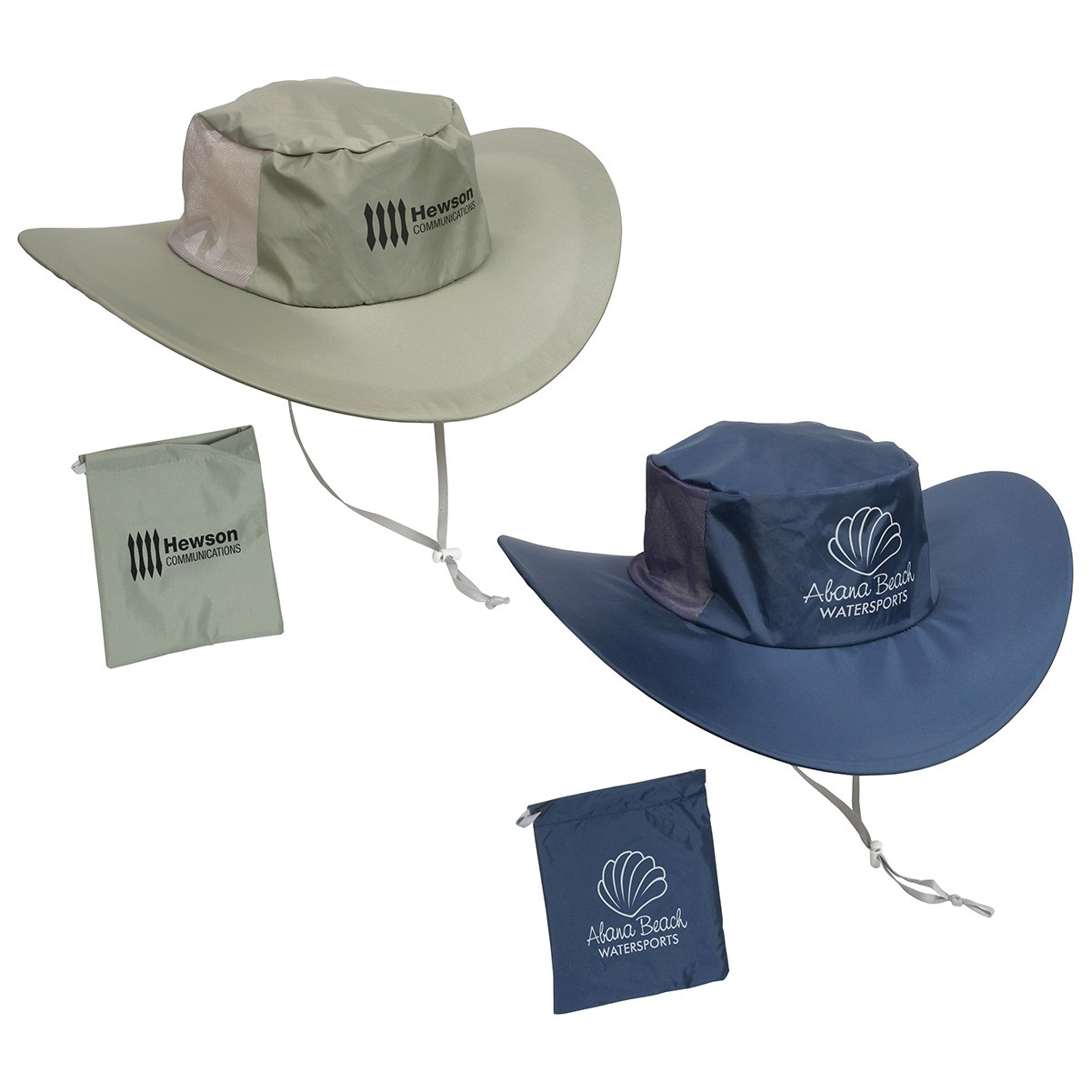 "Fold 'N Go Outdoor Hat  Water resistant nylon hat Unfolds from compact 5"" to 15"" Convenient carrying bag. Complies with Prop 65. 3.25"" H x 15.0"" Diameter"