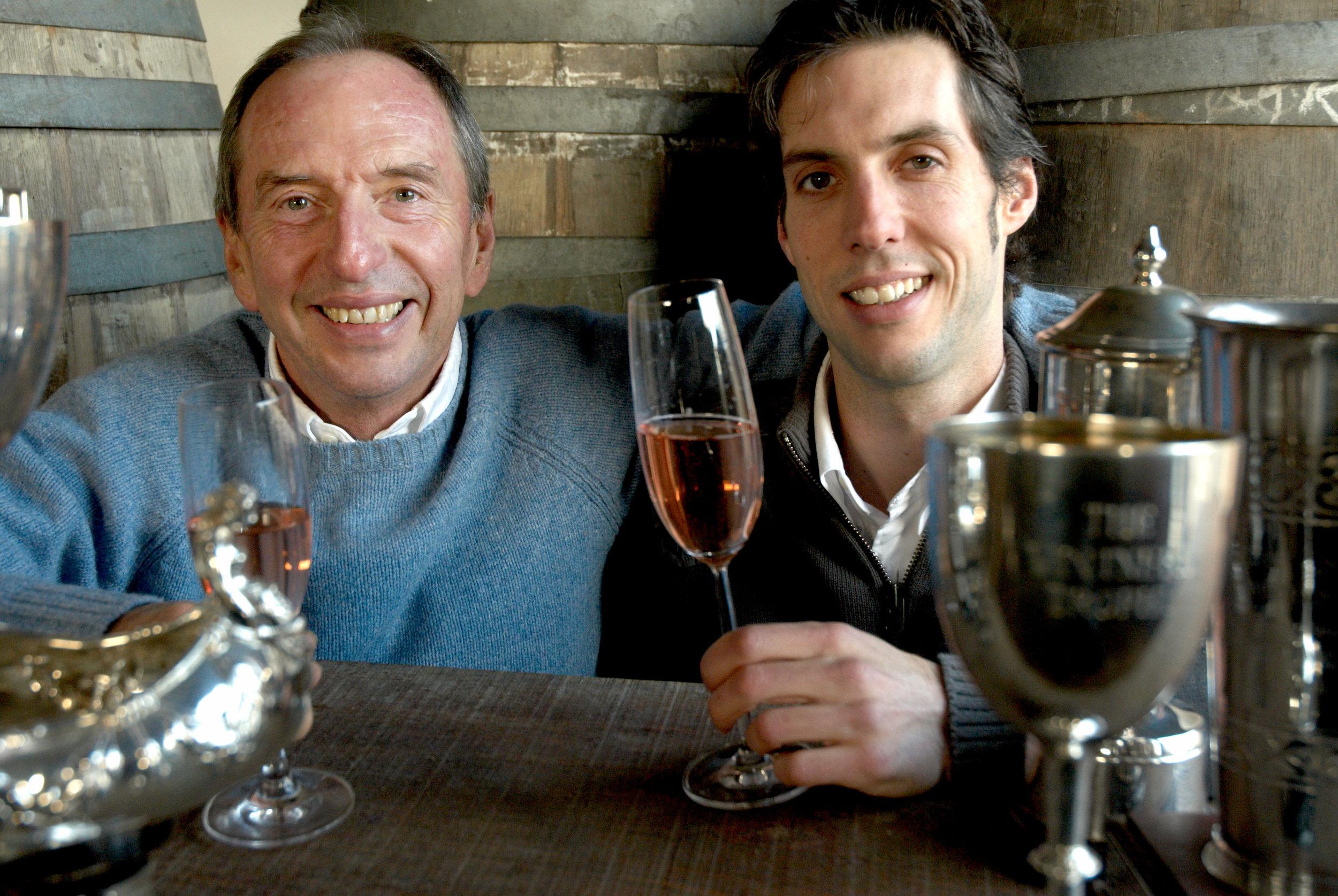 Bob & Sam enjoying a glass of wine.jpg