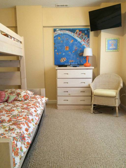 Twin-Double Bunk Bed room on Ground Level with Double Trundle.jpg