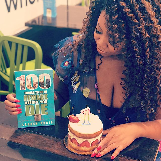Because is it really your book's birthday if there's no impromptu glamour shoot?! 📚 #happybirthday #100thingsnewark #shedidthat #authorlife #firstbook #ontothenextone • • • 📸: @getluckyviviana