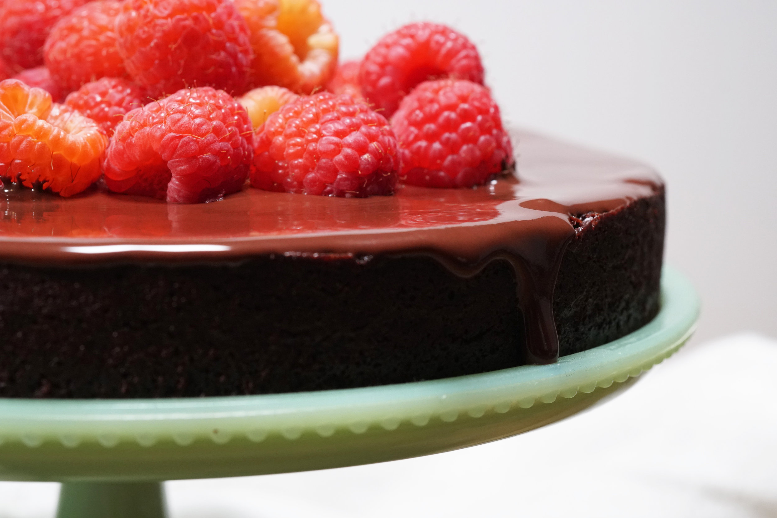 Flourless Chocolate Cake with Raspberries F.jpg