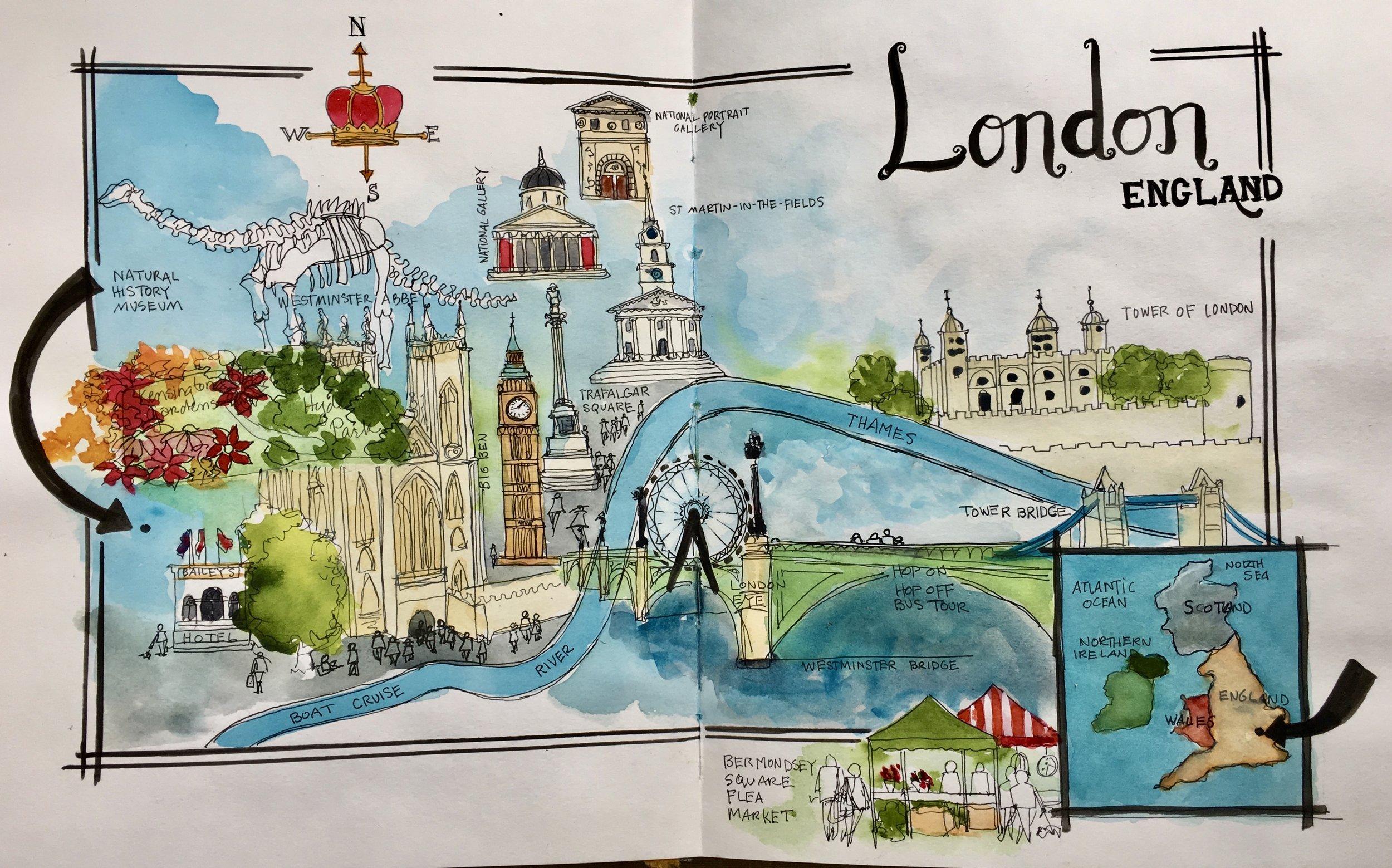 Charlene Collins Freeman, travel workshop to London & Bath