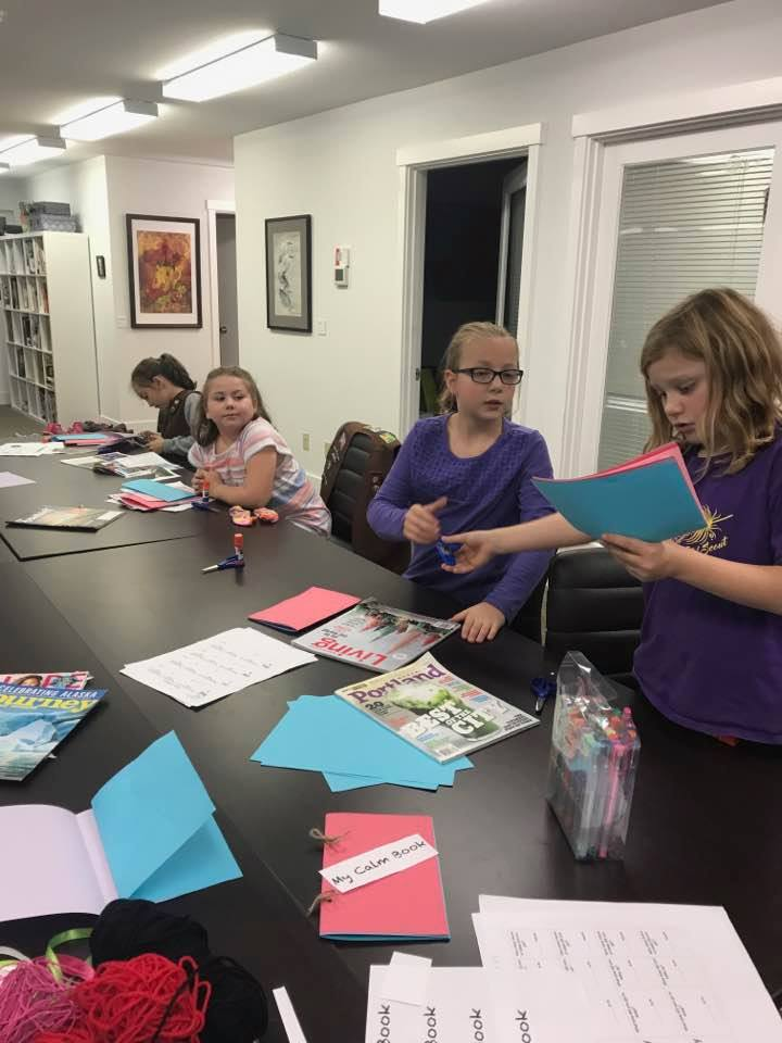 Book Artist workshop for Girl Scouts with Liz Abendroth
