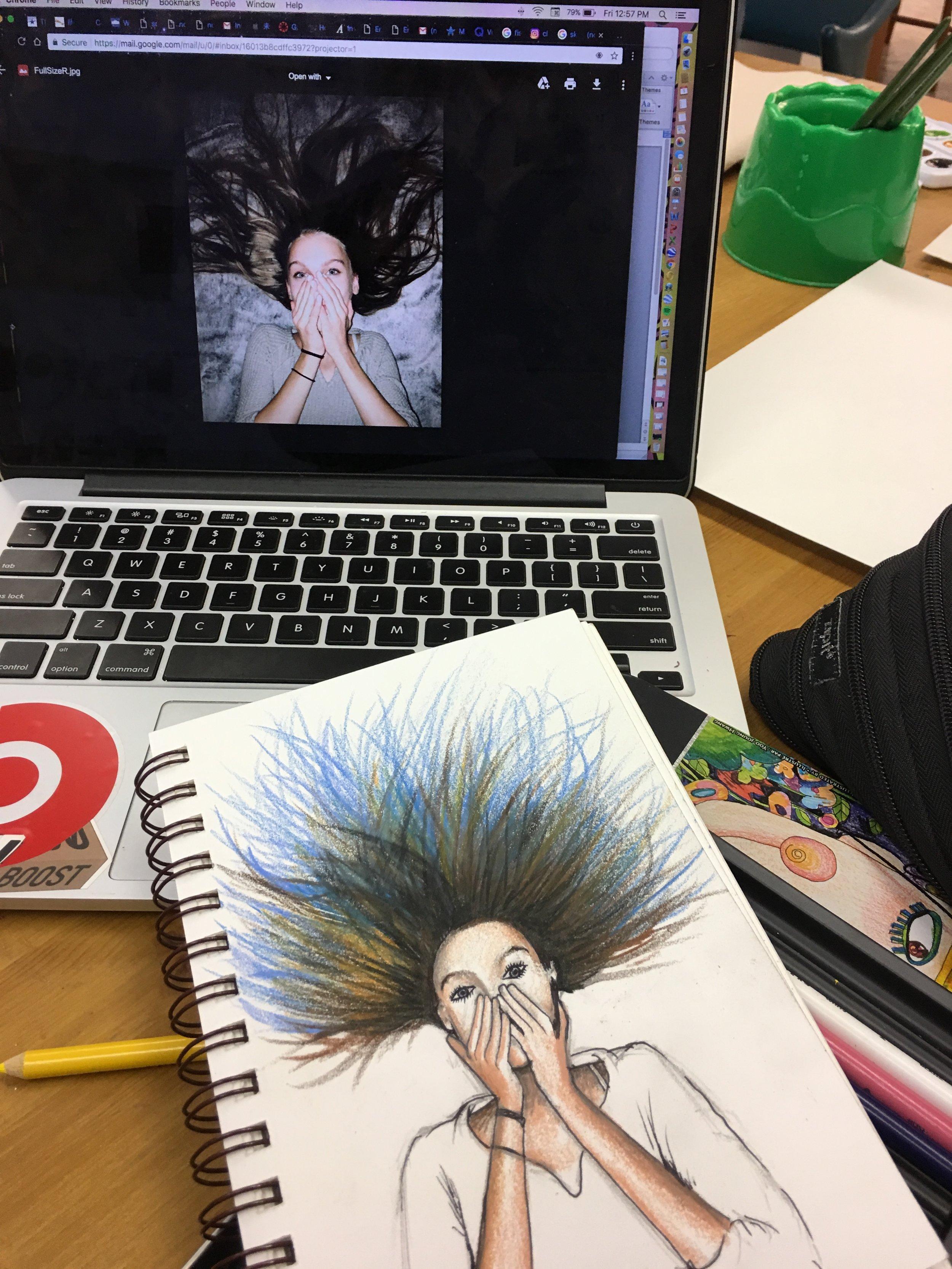 Jerry, teen art class by Charlene Collins Freeman