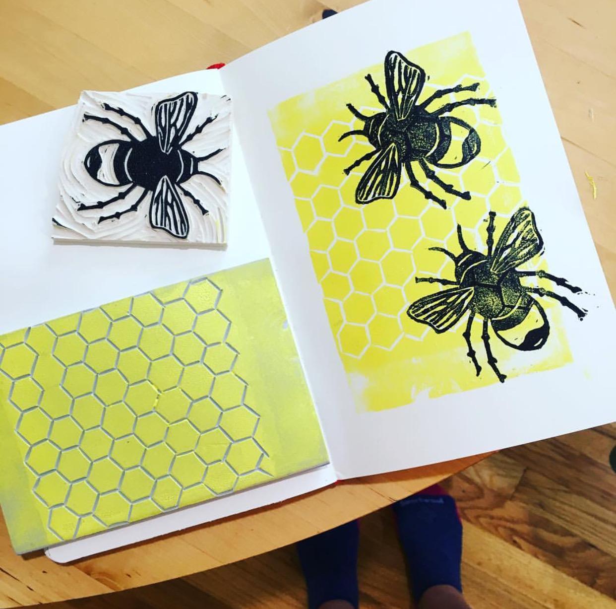 Printmaking Bees.jpeg