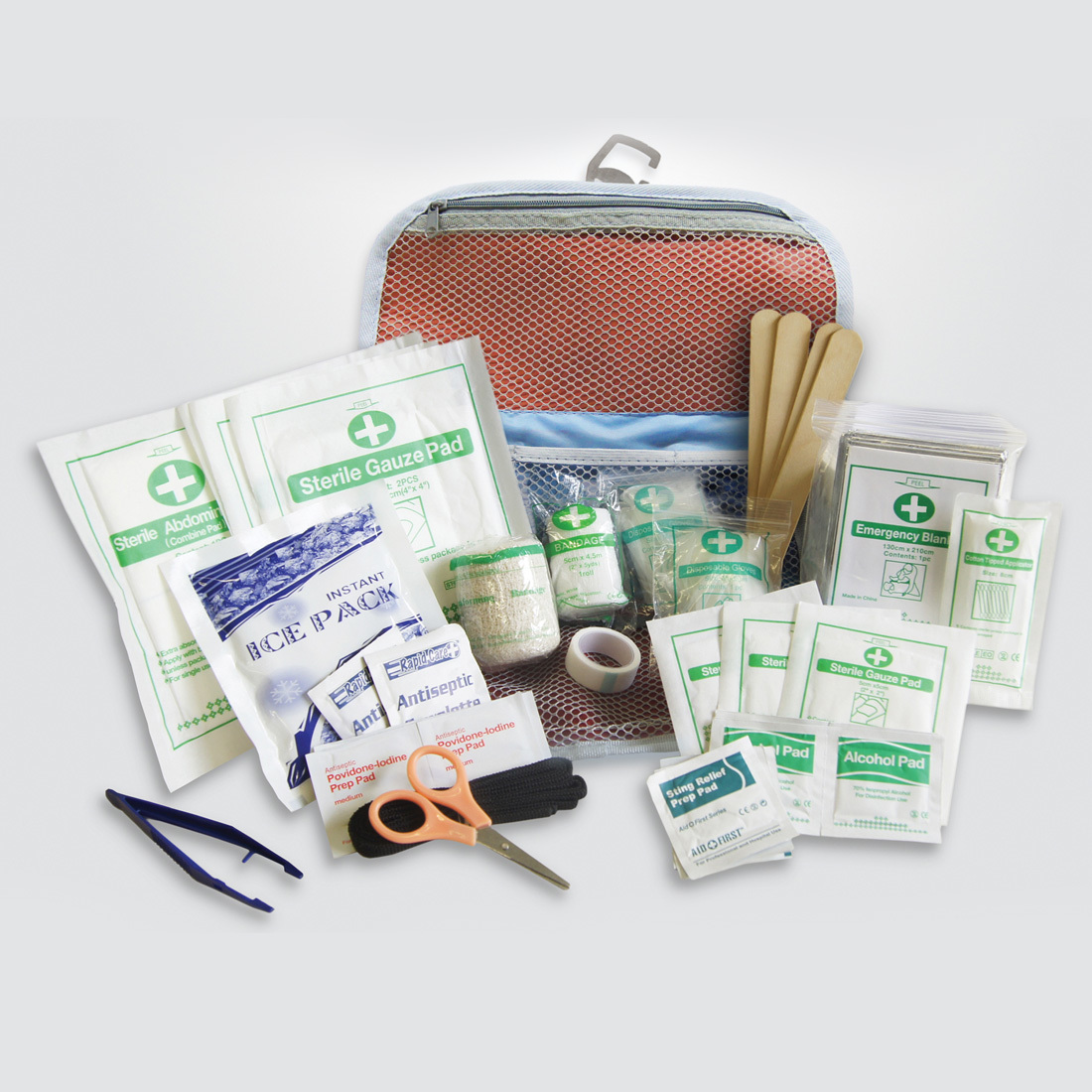 This essential kit is stylish, functional, and can easily go wherever you and Fido adventure. Included is a Pet First Aid Guide with directions on how to assist your dog with everything from choking to lacerations to poisoning