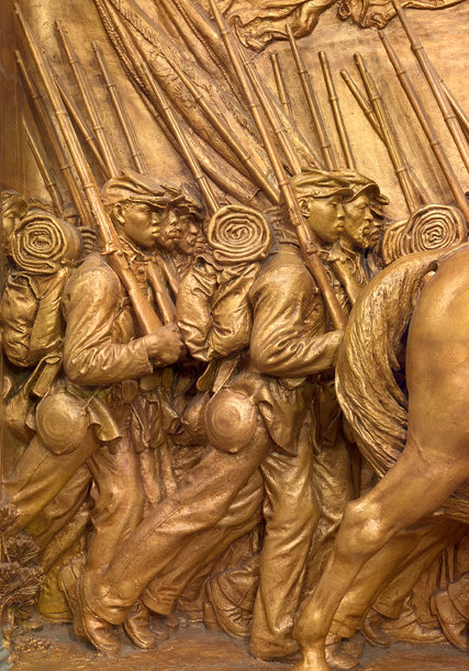 Detail from the 54th Massachusetts Memorial in Boston