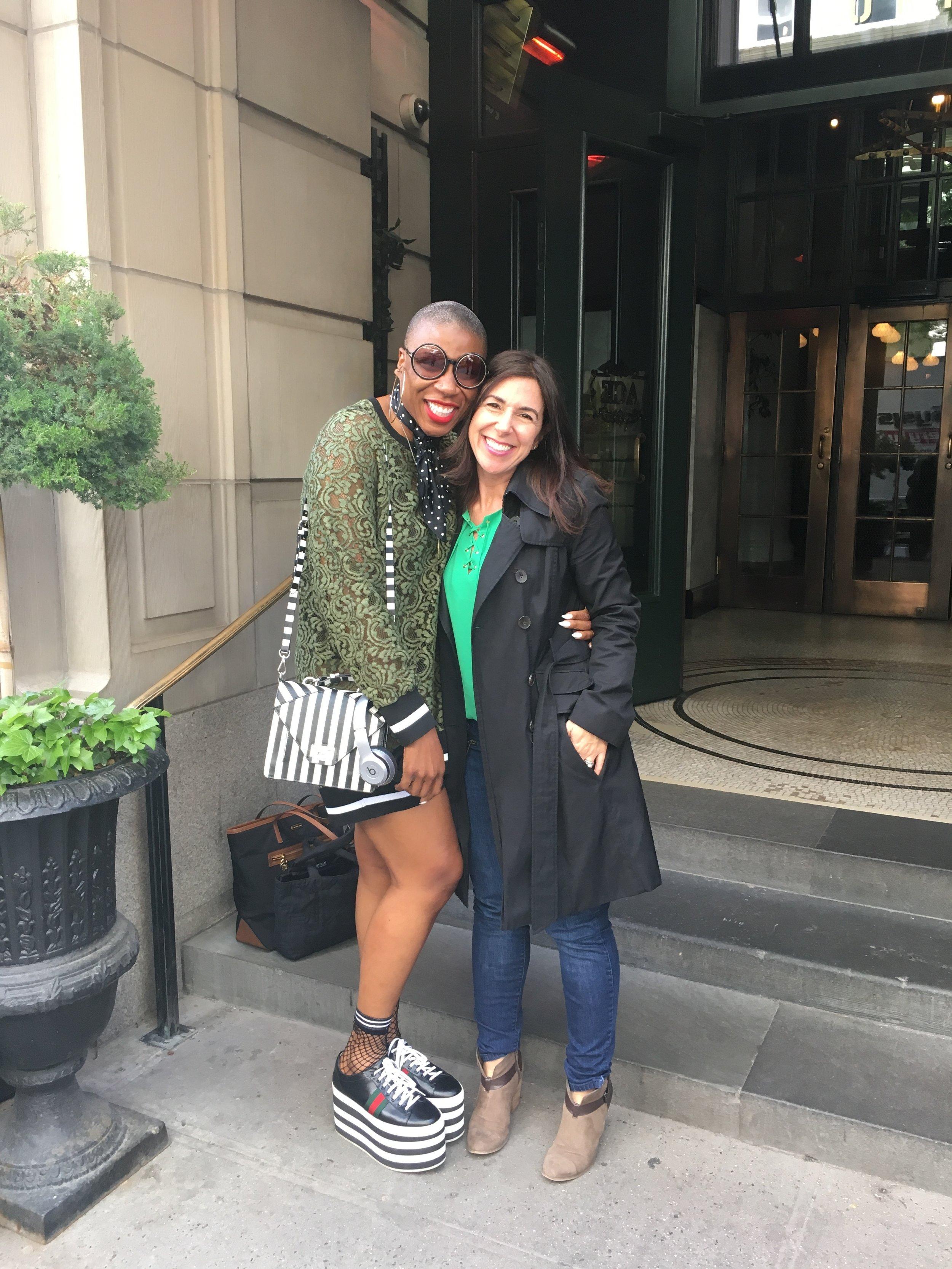 Aisha Hinds and Kara at Ace Hotel.JPG