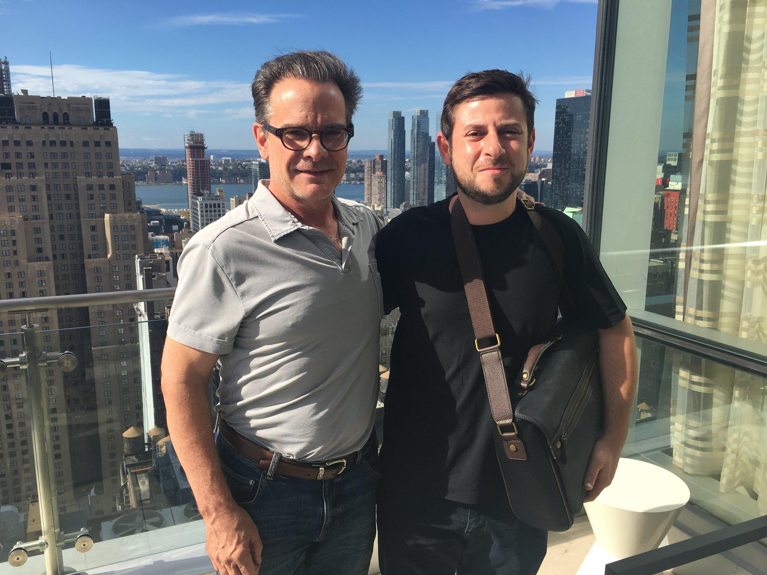 Peter Scolari and filmmaker Rob Margolies
