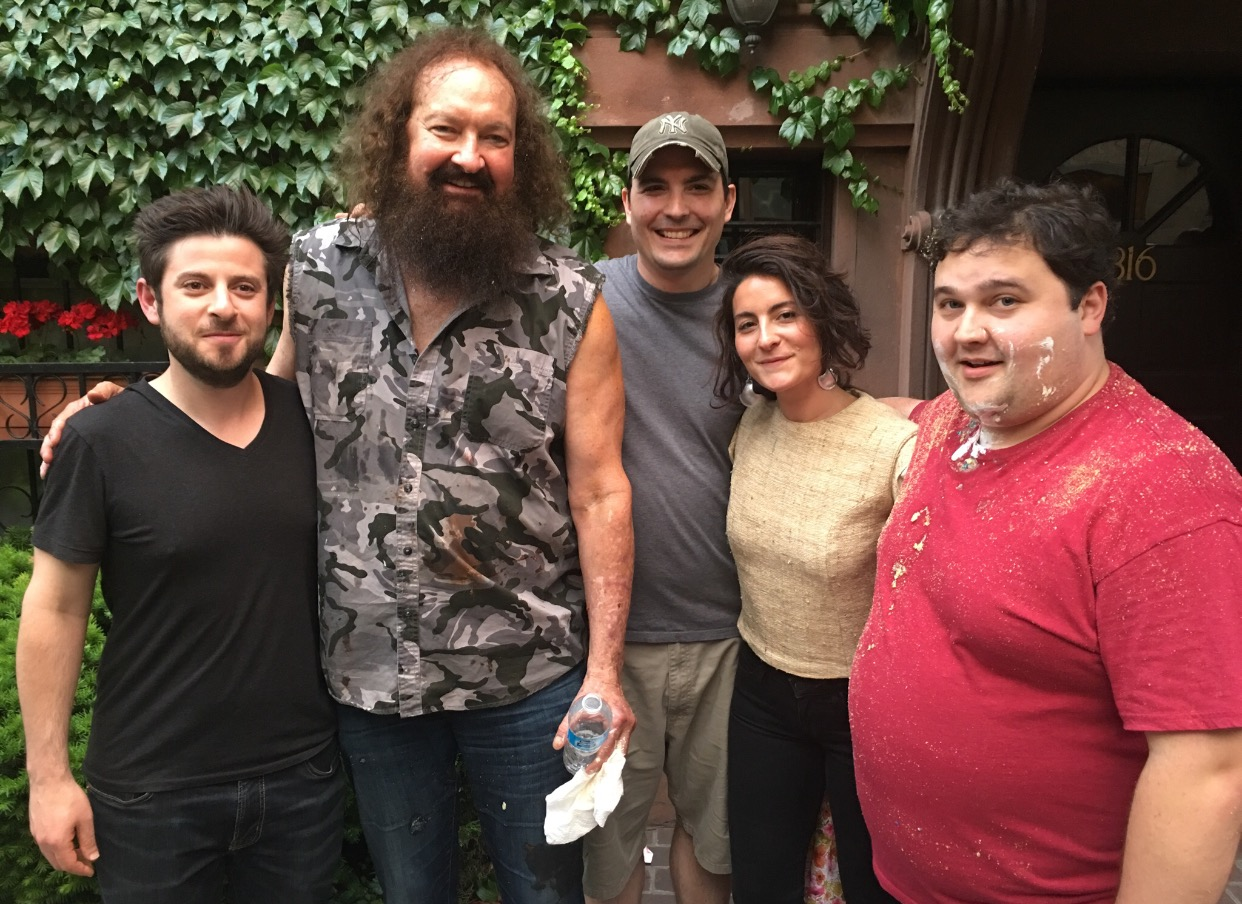 Cast and crew of  Weight , including filmmaker Rob Margolies and actor Randy Quaid.