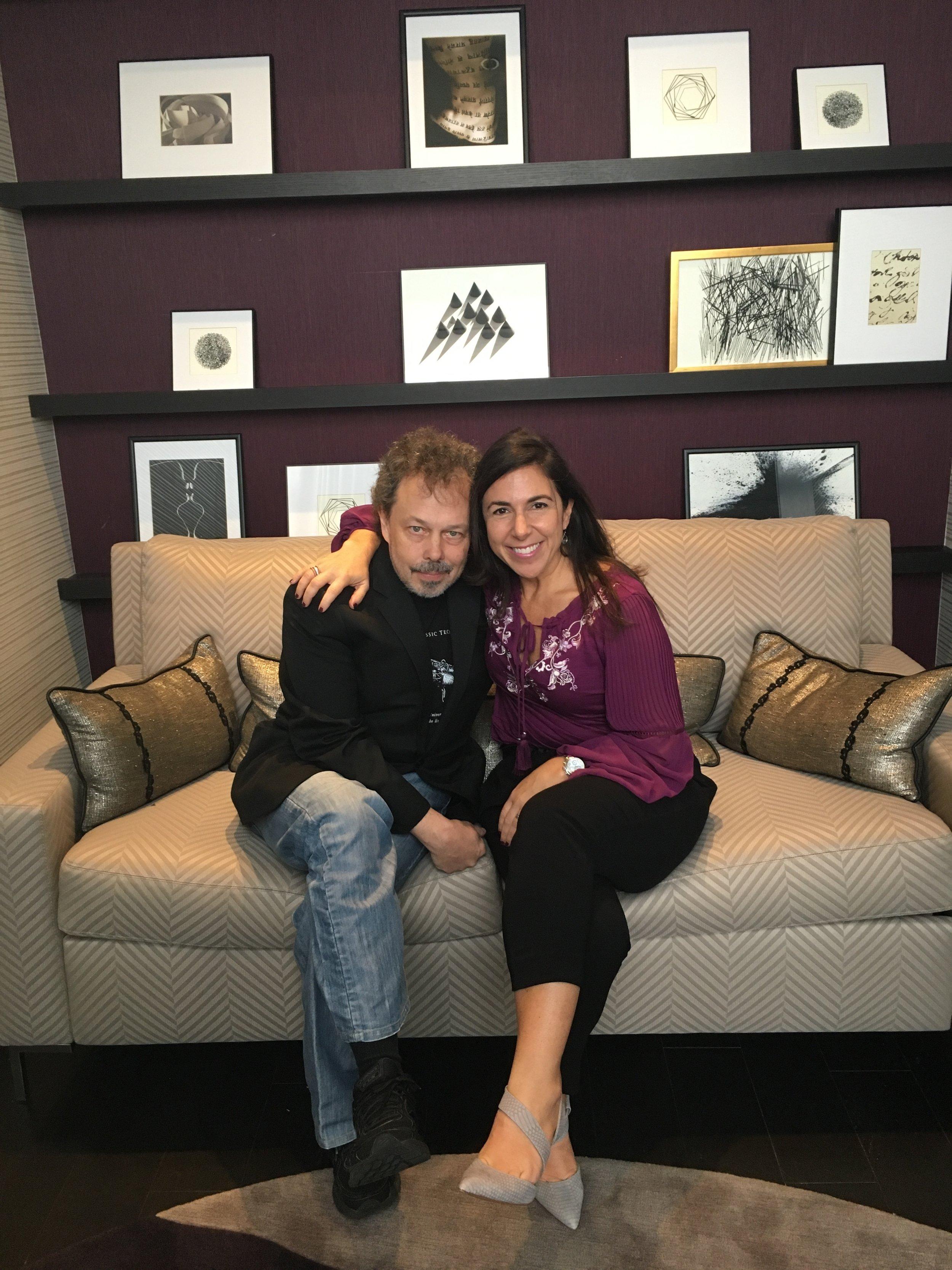 Curtis Armstrong and Kara Mayer Robinson - sitting at Renny.JPG