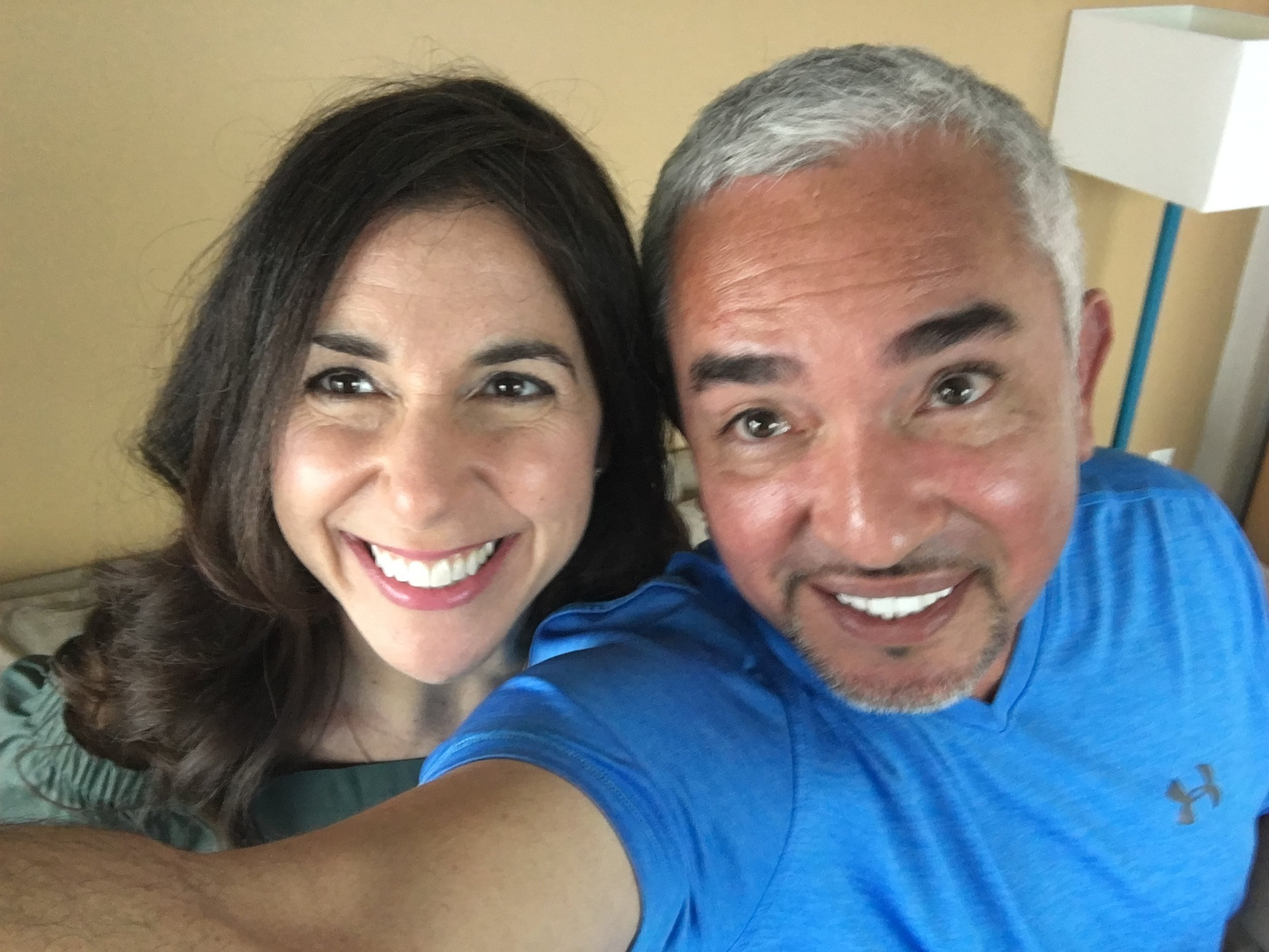 Cesar Millan and Kara Mayer Robinson SELFIE.JPG