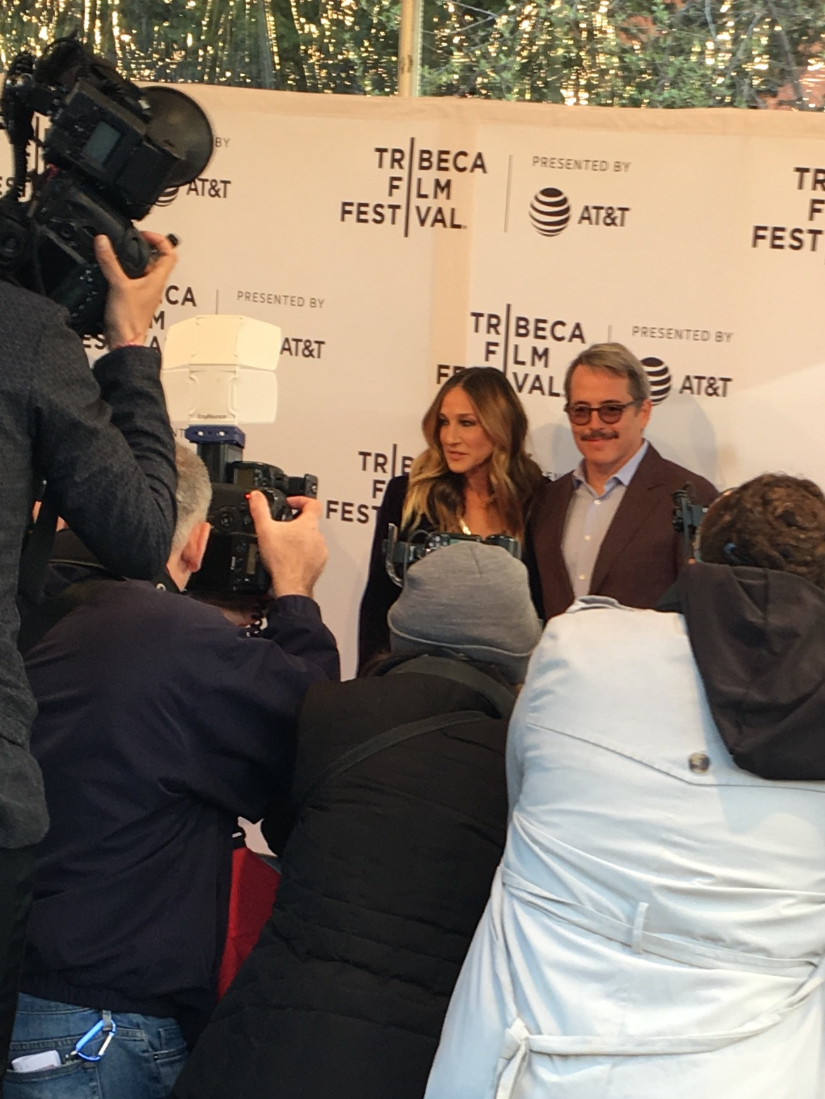 Sarah Jessica Parker and Matthew Broderick on the red carpet for the premiere of   To Dust  ,   written and directed by Shawn Snyder, which was honored with Tribeca's Narrative Award.