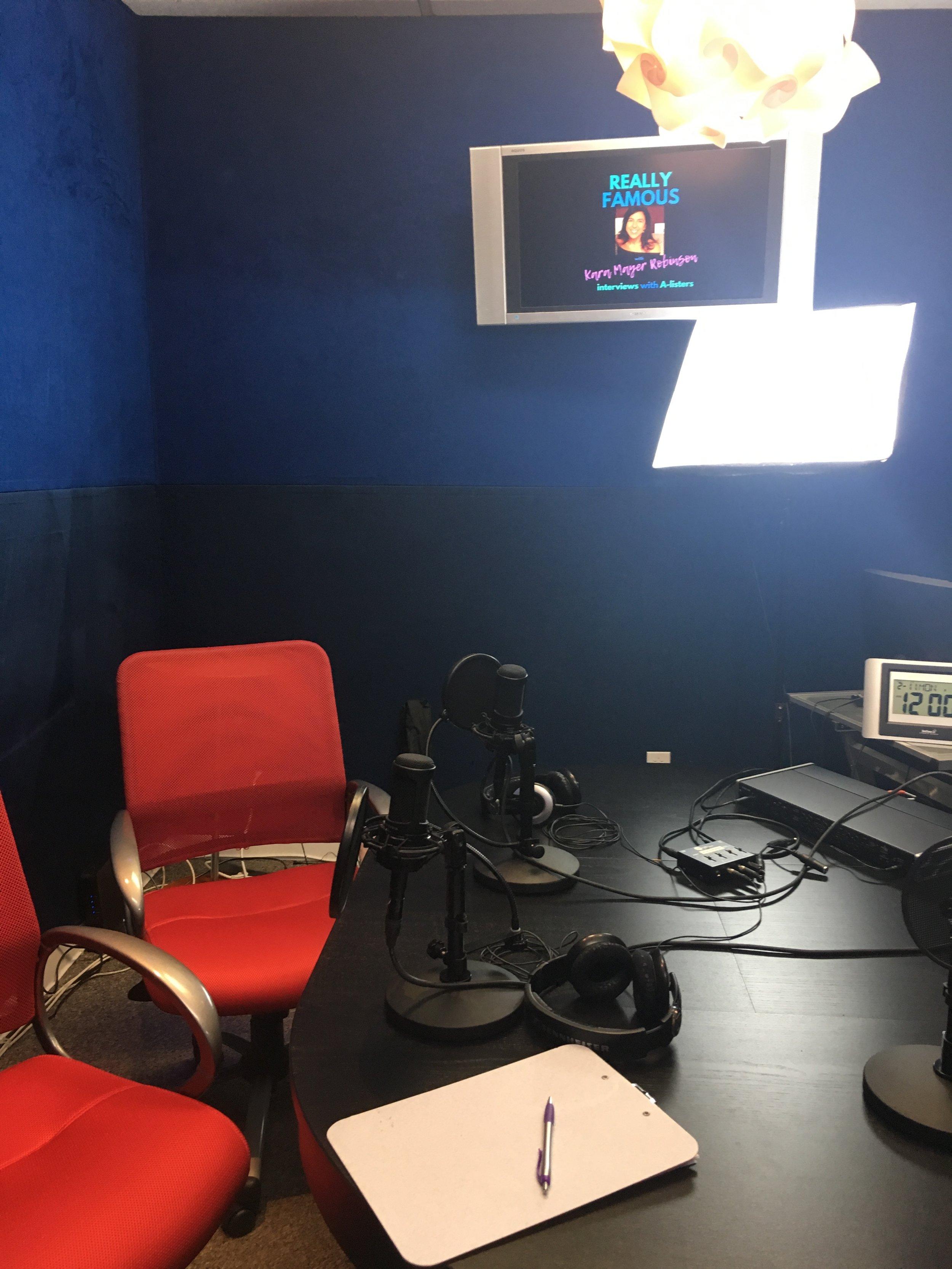 Ray Jimenez studio for Jaime Camil Really Famous podcast episode.JPG