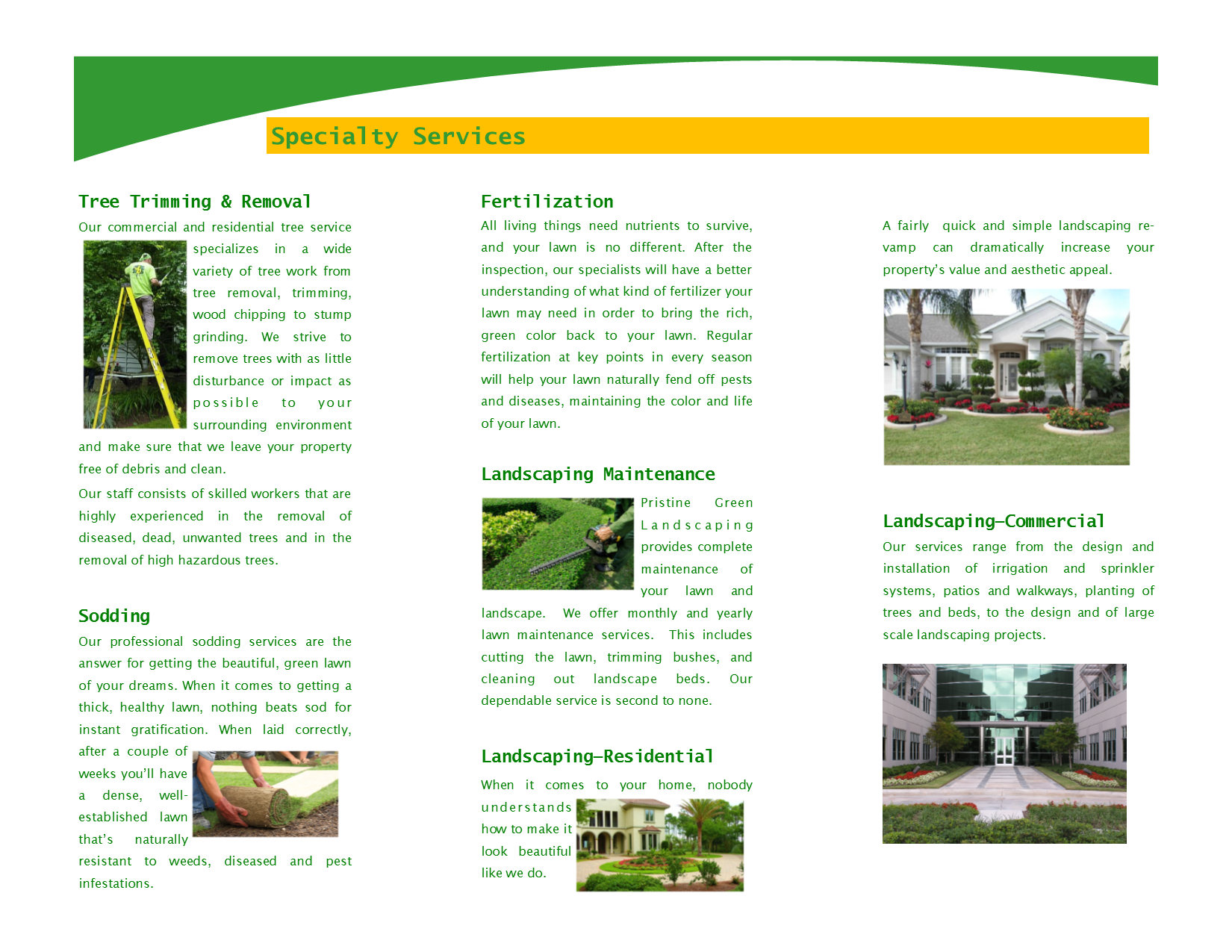 Trifold Brochure Page 2 of 2
