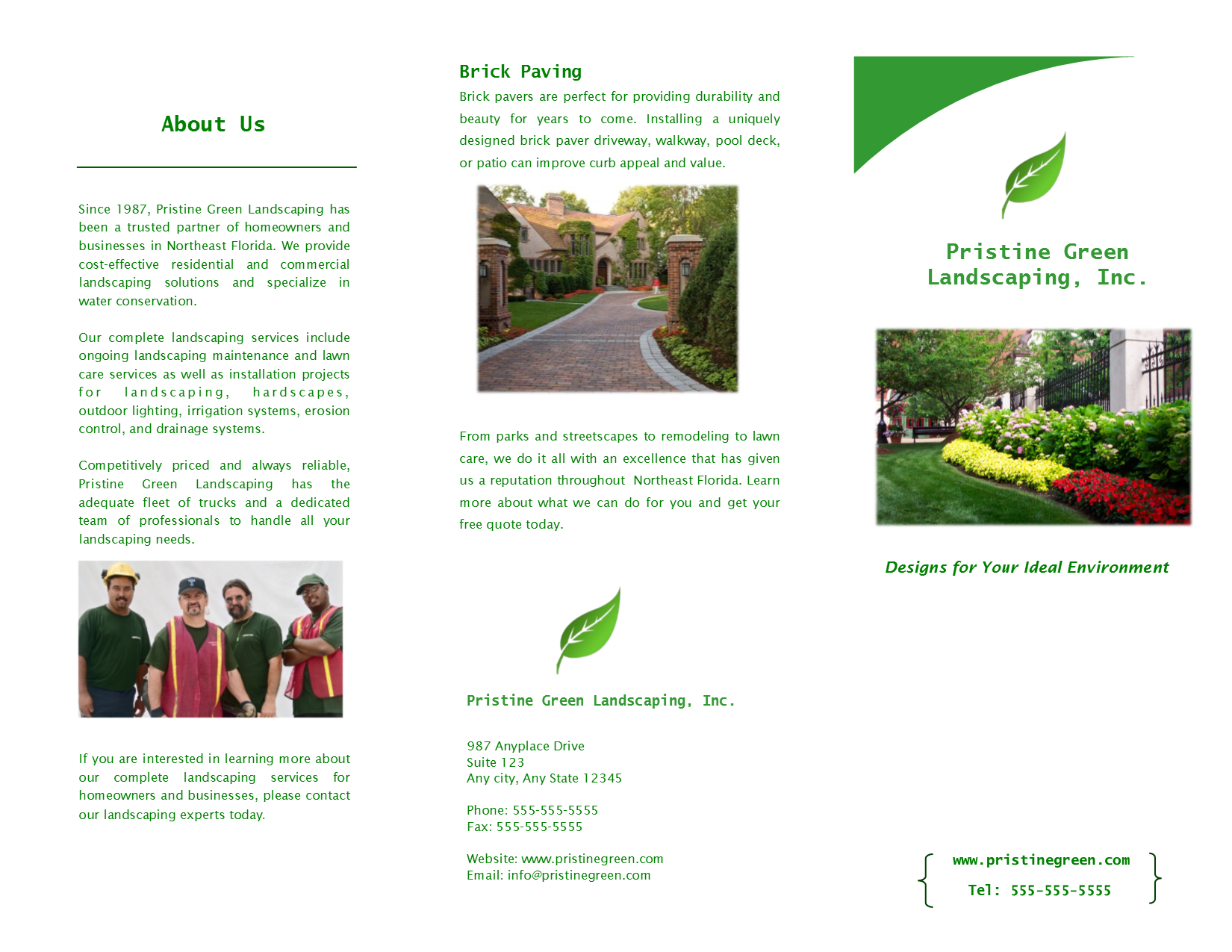 Trifold Brochure Page 1 of 2