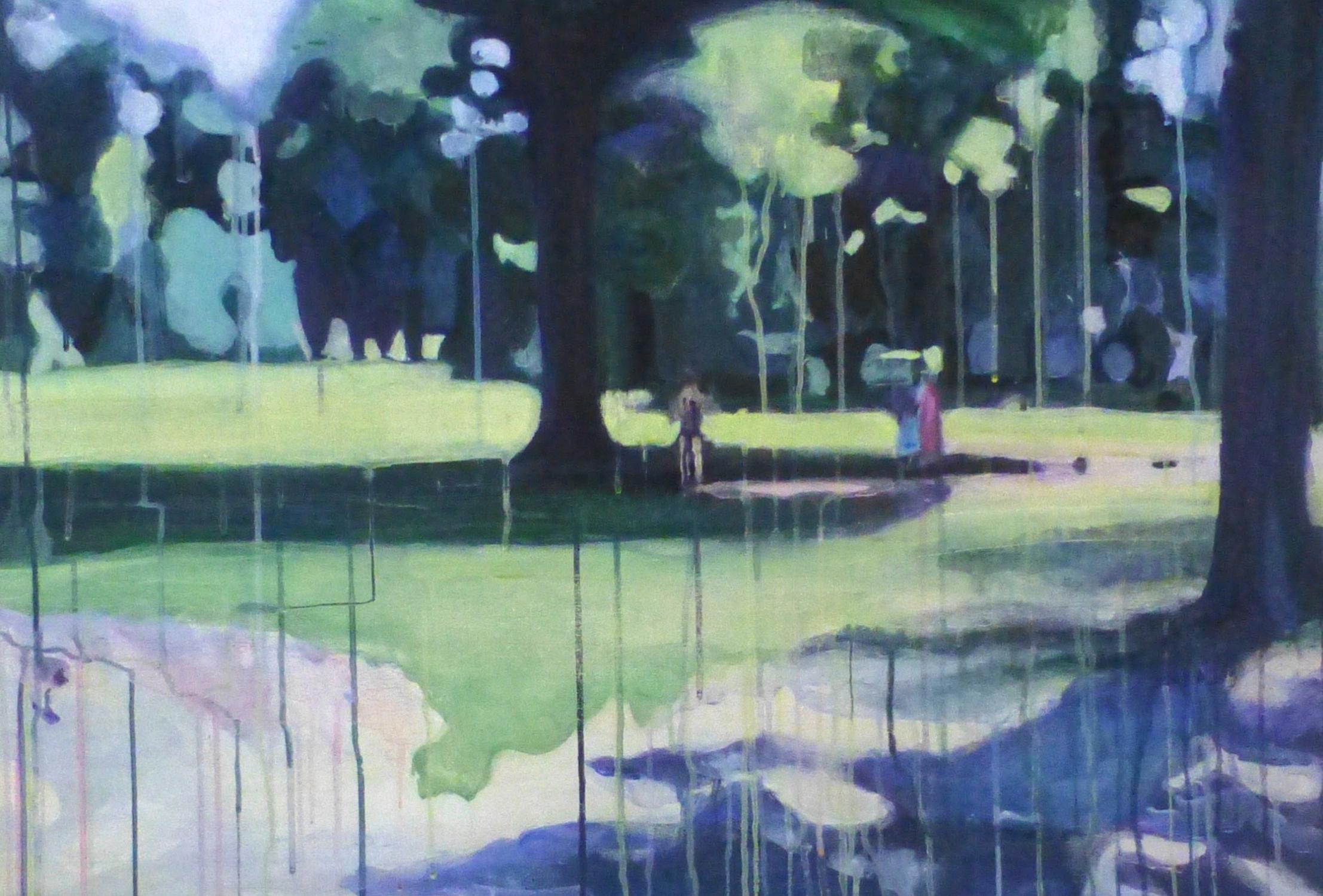 "Summer Swing Acrylic on linen 2015 36"" x 24"""