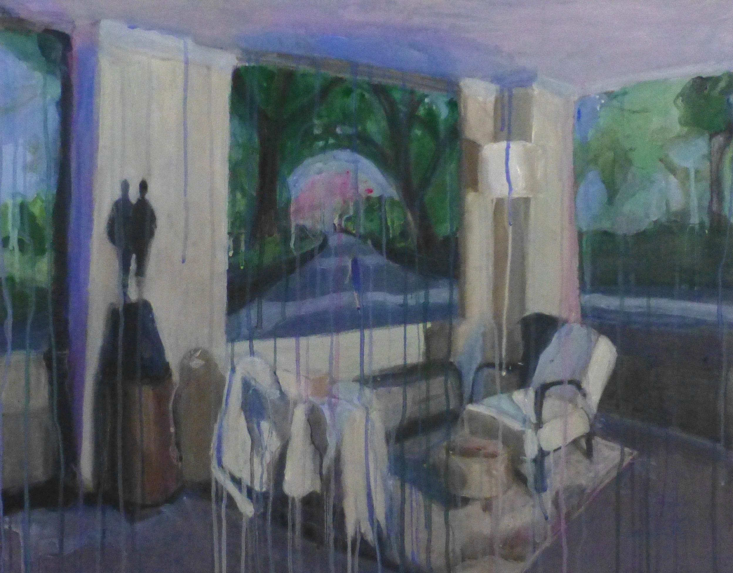 "Empty Room Acrylic on linen 2015 30"" x 40"""