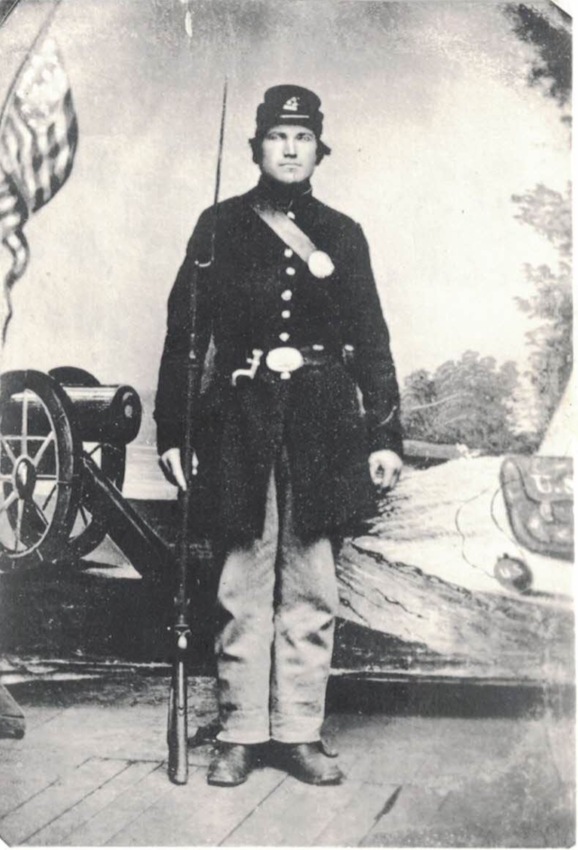 Mark's great-great grandfather, fighting for the Union during the U.S. Civil War.