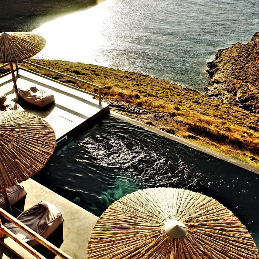 Kythnos Greece Yoga Retreat Villa Pool