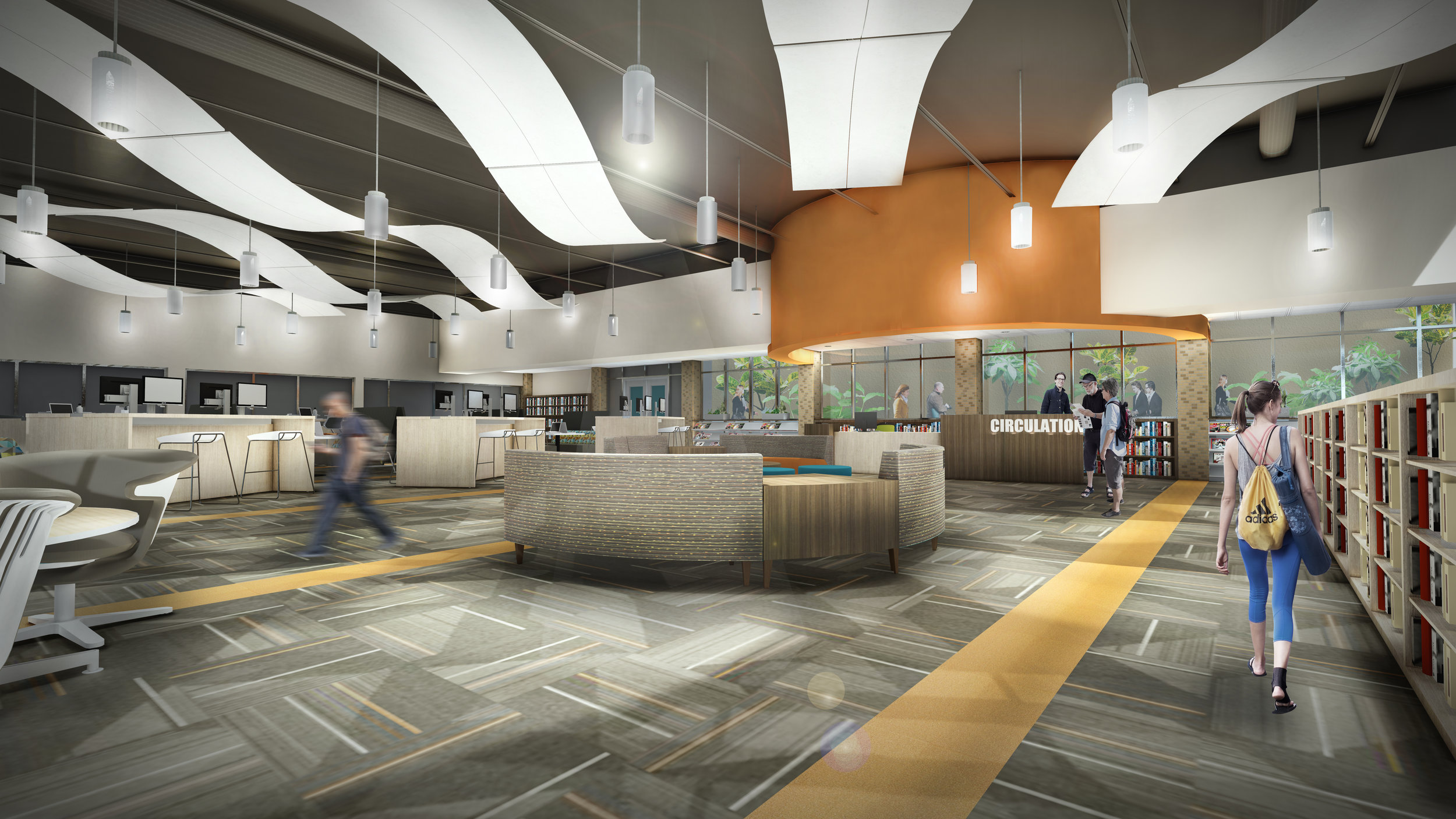 Renders of the Dowagiac School, worked on  Revit, Lumion and Photoshop