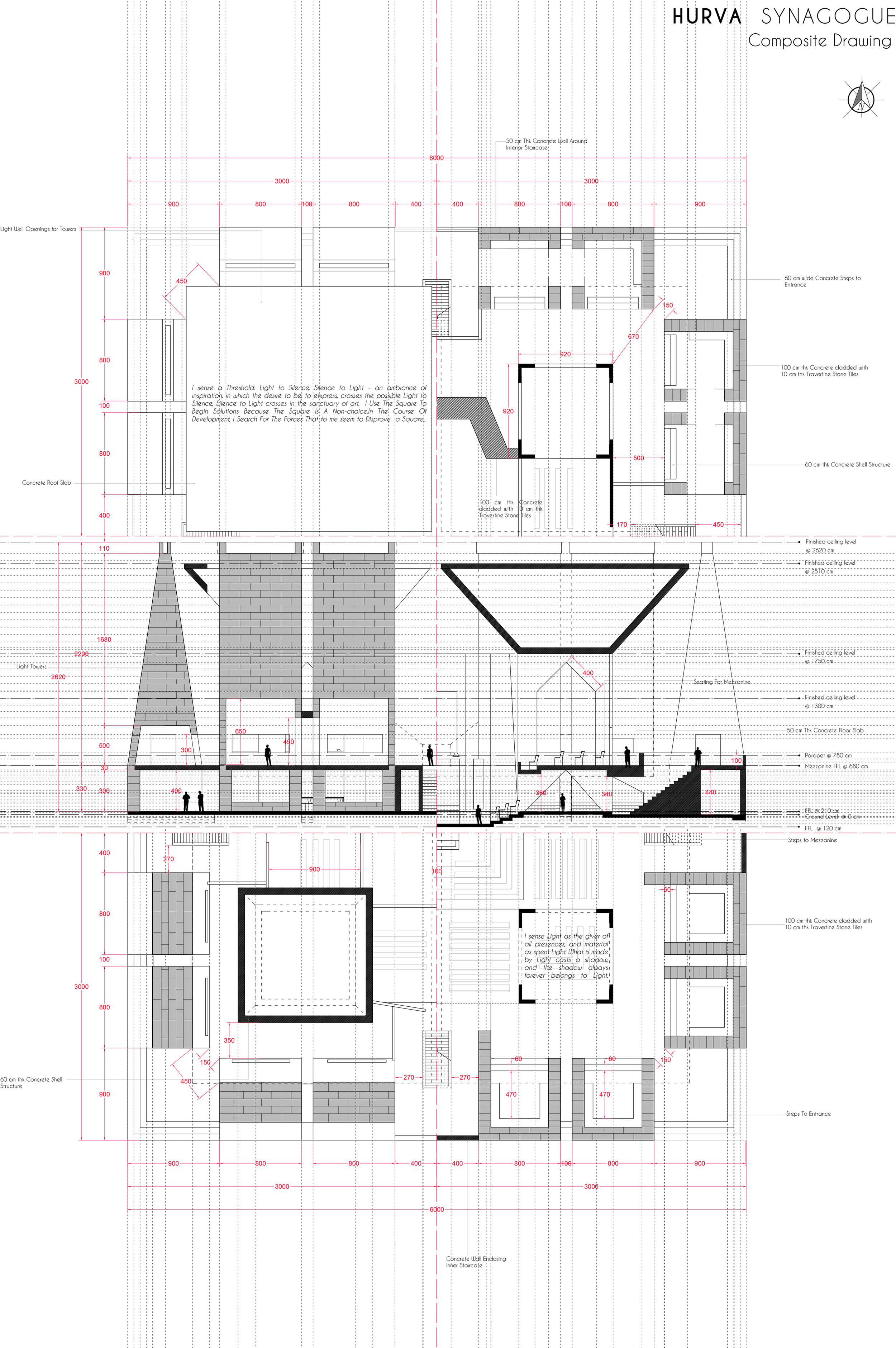 Composite detailed construction drawing.