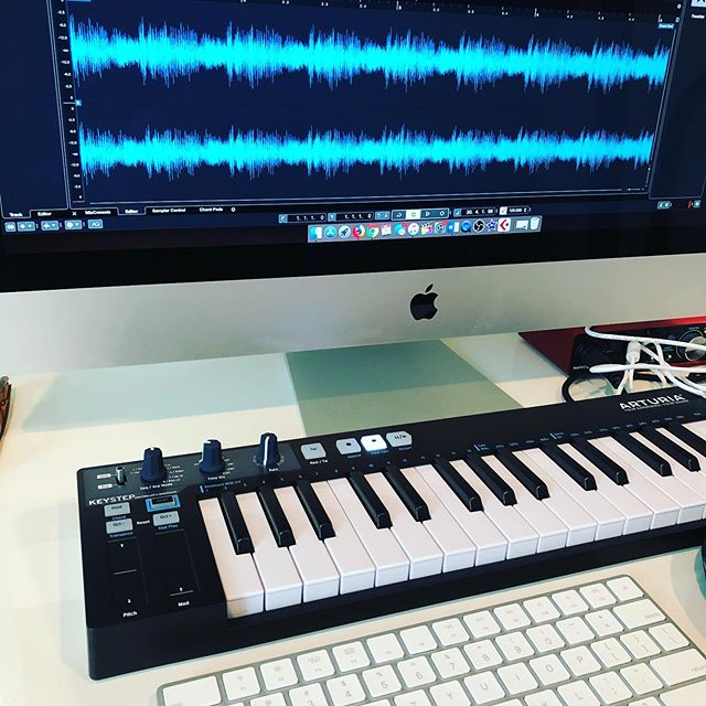 Morning music making.  #creative #homerecording #cubase #arturia