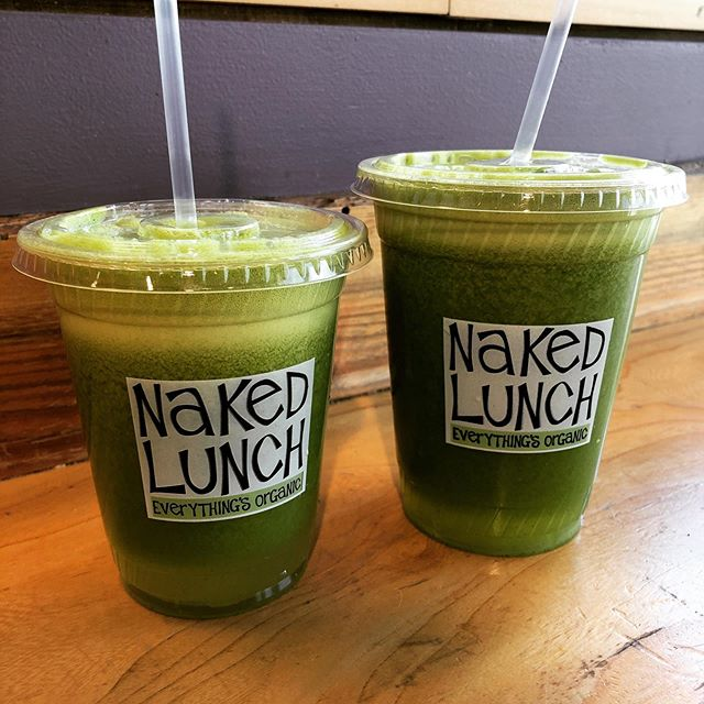 Delicious green juice lunch.  #kale #greenjuice #momsorganicmarket