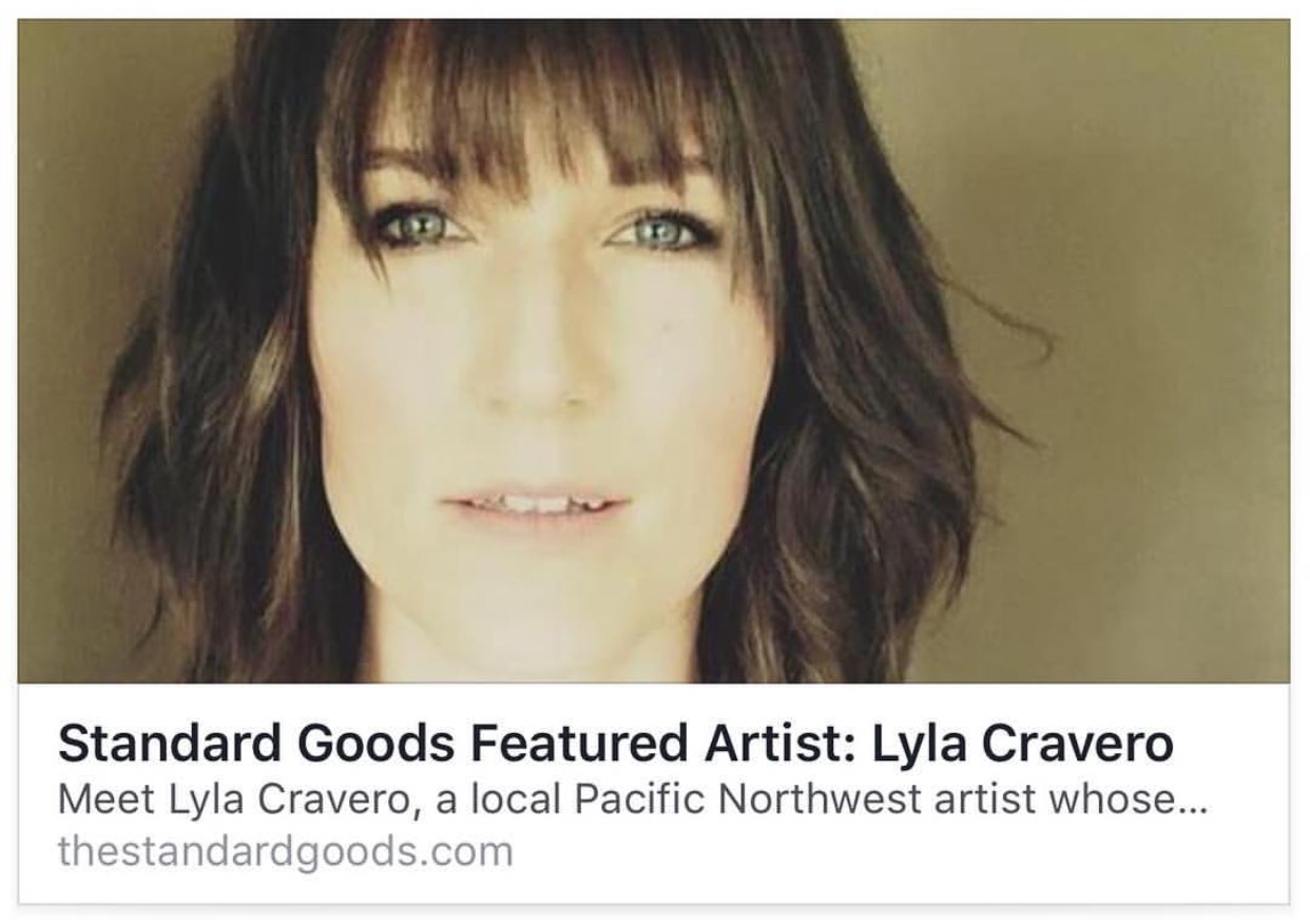 Artist Interview - Click on the photo to read an intriguing interview of the artist, Lyla Cravero.By: Art Correspondent Maya Koplowitz.