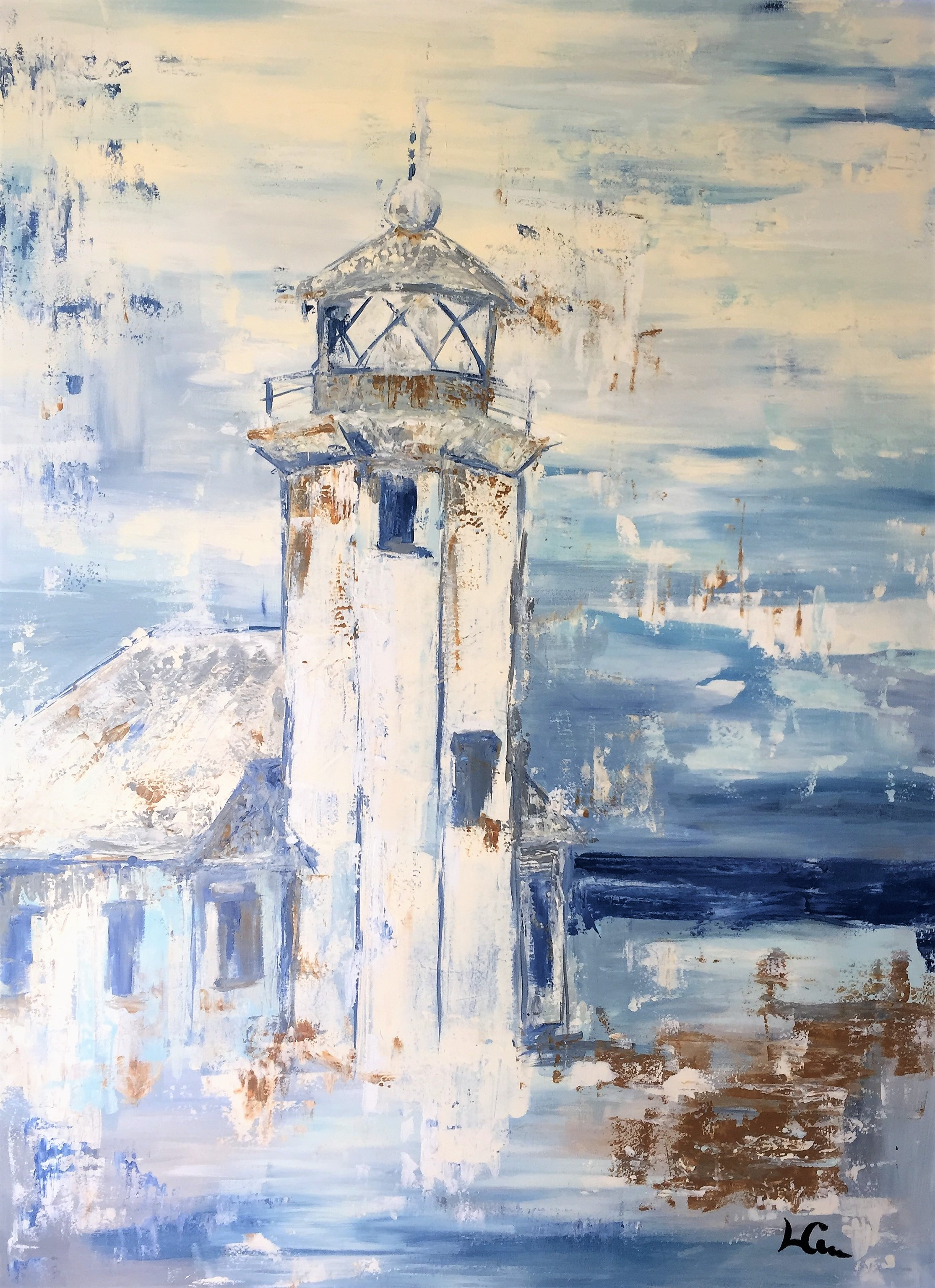 """""""VASHON""""  36 x 48 inches  Acrylic on gallery wrapped canvas."""