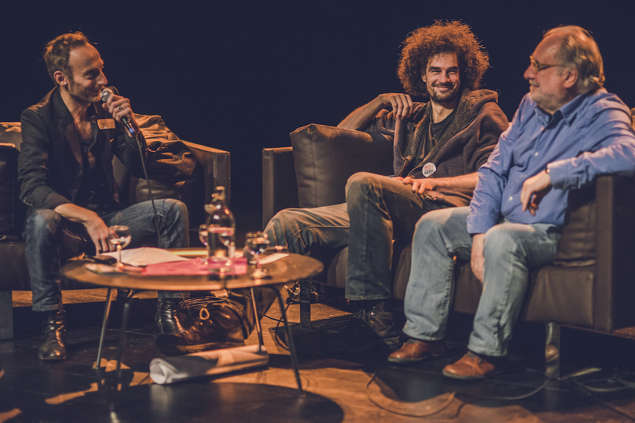 Stijn Vranken, Wouter Hillaert en Eric Corijn ©Joachim De Wilde
