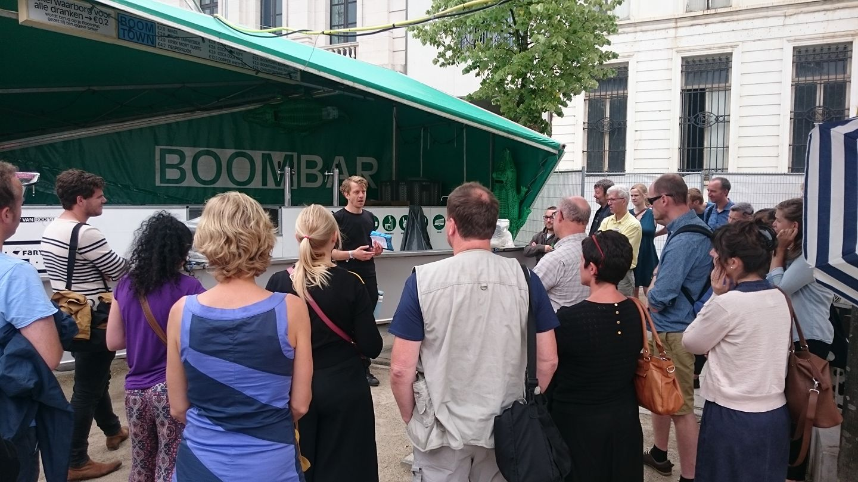 Praktijksafari Boomtown, Jeroen Vereecke legt uit over de  Boombar
