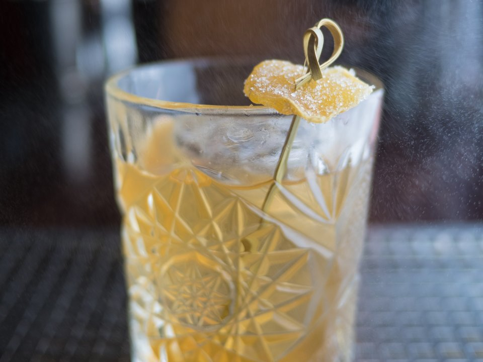 The Penicillin - 2oz (60ml) blended Scotch whisky3/4oz (22.5ml) fresh lemon juice3/8oz (11ml) ginger syrup (recipe below)3/8oz (11ml) honey syrup (recipe below)Splash of Scotch whiskyCandied gingerAdd blended Scotch, lemon juice, and both syrups to a shaker tin with iceShake for 15 secondsDouble strain into a rocks glass with iceFloat the splash of Scotch on topGarnish with candied gingerGinger Syrup20oz (570g) fresh ginger to yield 1/2 cup (120ml) ginger juice1/2 cup (100g) superfine sugarPeel fresh ginger with a spoon or vegetable peelerPulse in food processor or blender until a soft pulpAdd ginger into a cheese cloth and squeeze out juiceCombine 1/2 cup of the ginger juice with the sugarShake to combine and store in the refrigerator for up to 1 month (add a touch of vodka to help with preservation)Honey Syrup1 cup (240ml) honey1/3 cup (80ml) hot waterCombine honey and hot water in a jarShake to combine and store in the refrigerator for up to 1 month (add a touch of vodka to help with preservation)