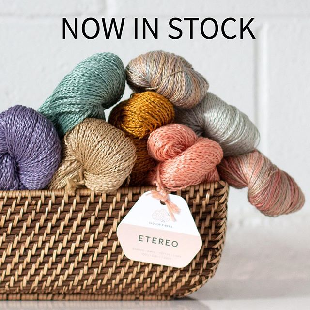ETEREO is a silky bamboo/ramie/cotton/linen blend that has an appealing texture and shine. Warm weather projects will love this breathable fingering weight yarn. #cloud9etereo