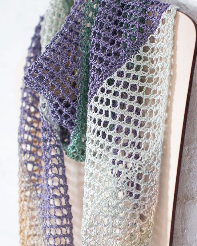 ETEREO_ The Ethereal Scarf is our newest free project made with 4 sultry colors of our silky #cloud9etereo