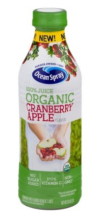 Ocean Spray Organic 100% Juice Cranberry Apple