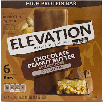 ALDI Elevation by Millville High Protein Bars