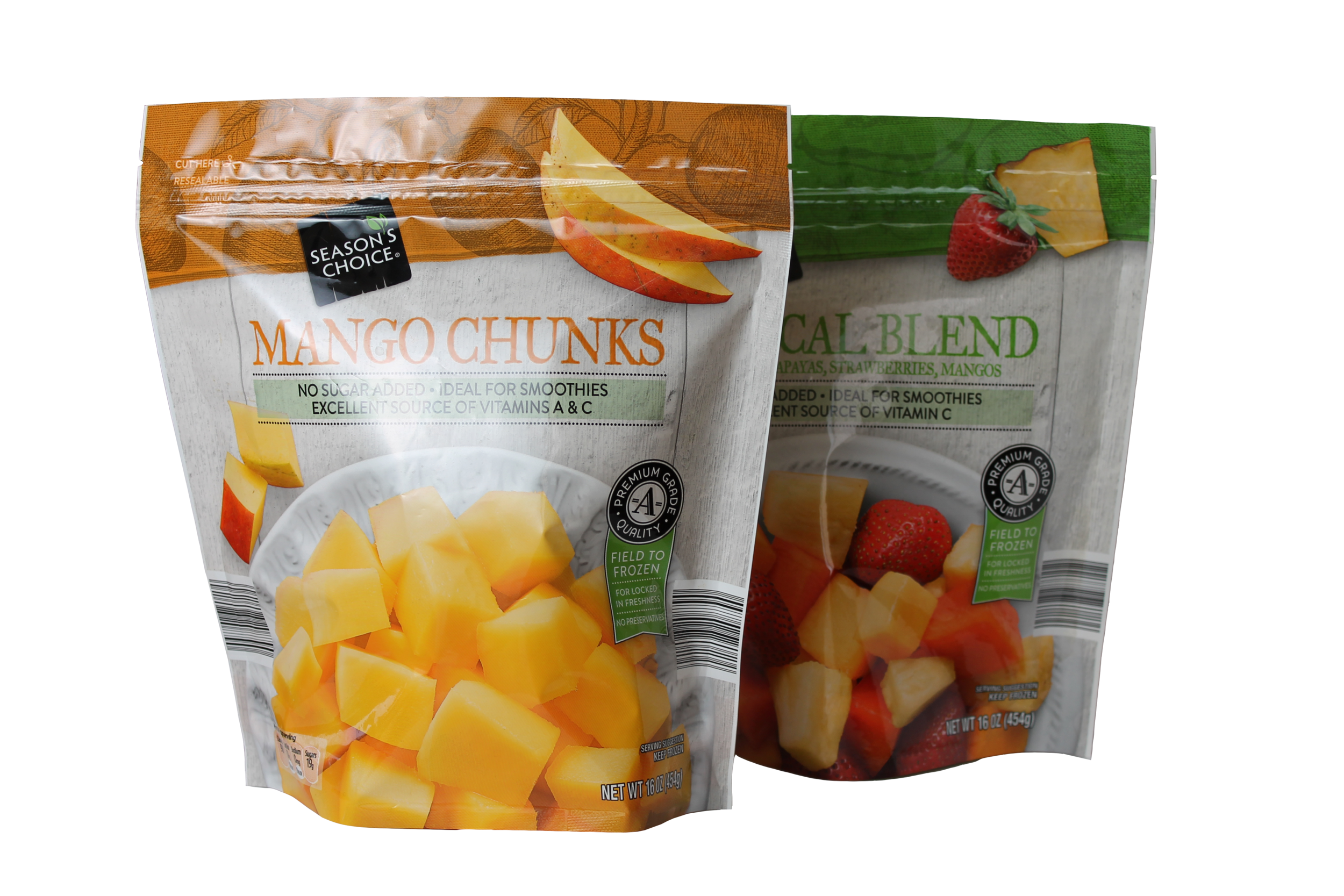 ALDI Season's Choice Mango & Tropical Blend Frozen Fruit