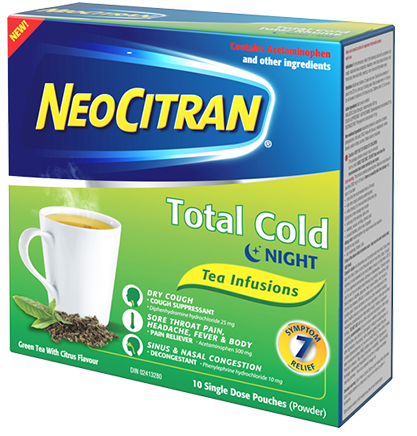 NeoCitran Total Cold Night Tea Infusions