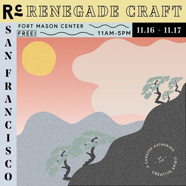 Dear friends and supporters in San Francisco: We are coming to see you guys at Renegade Nov 16 and 17! Please come by to say hi to us and the other creative makers at the show!